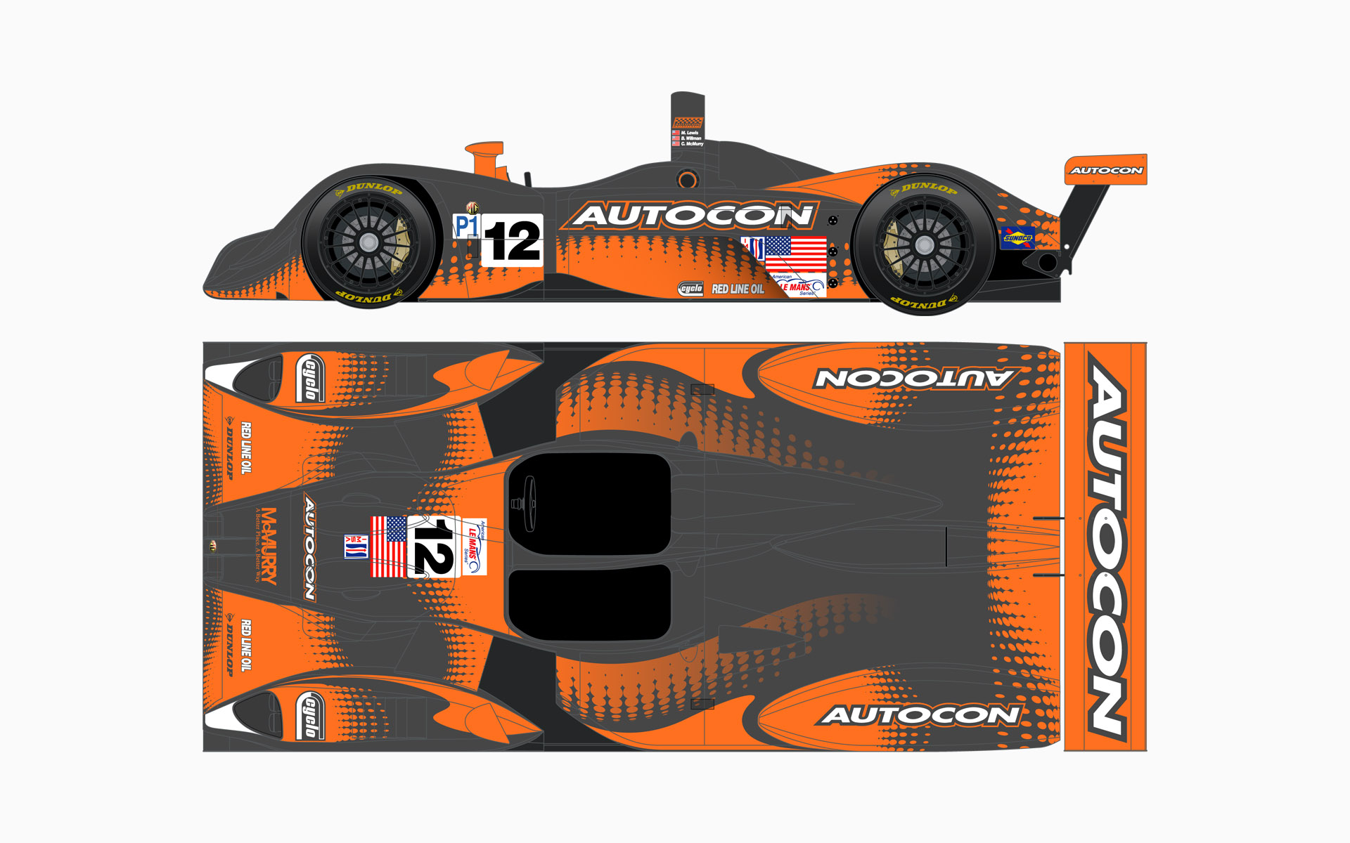 2006 Autocon Motorsports Lola EX257 Livery Elevations