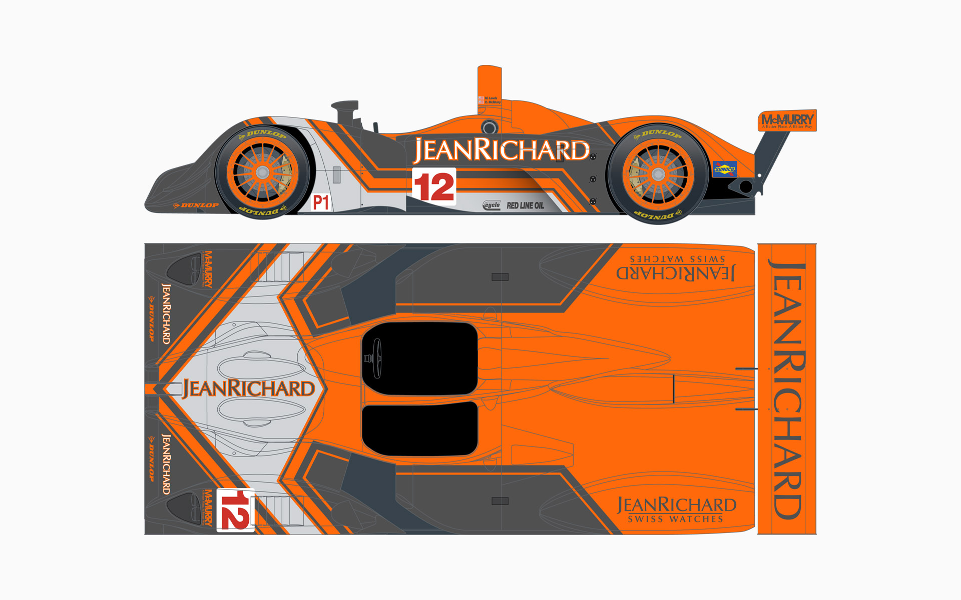 2007 Autocon Motorsports Jean Richard Lola EX257 Livery Elevations