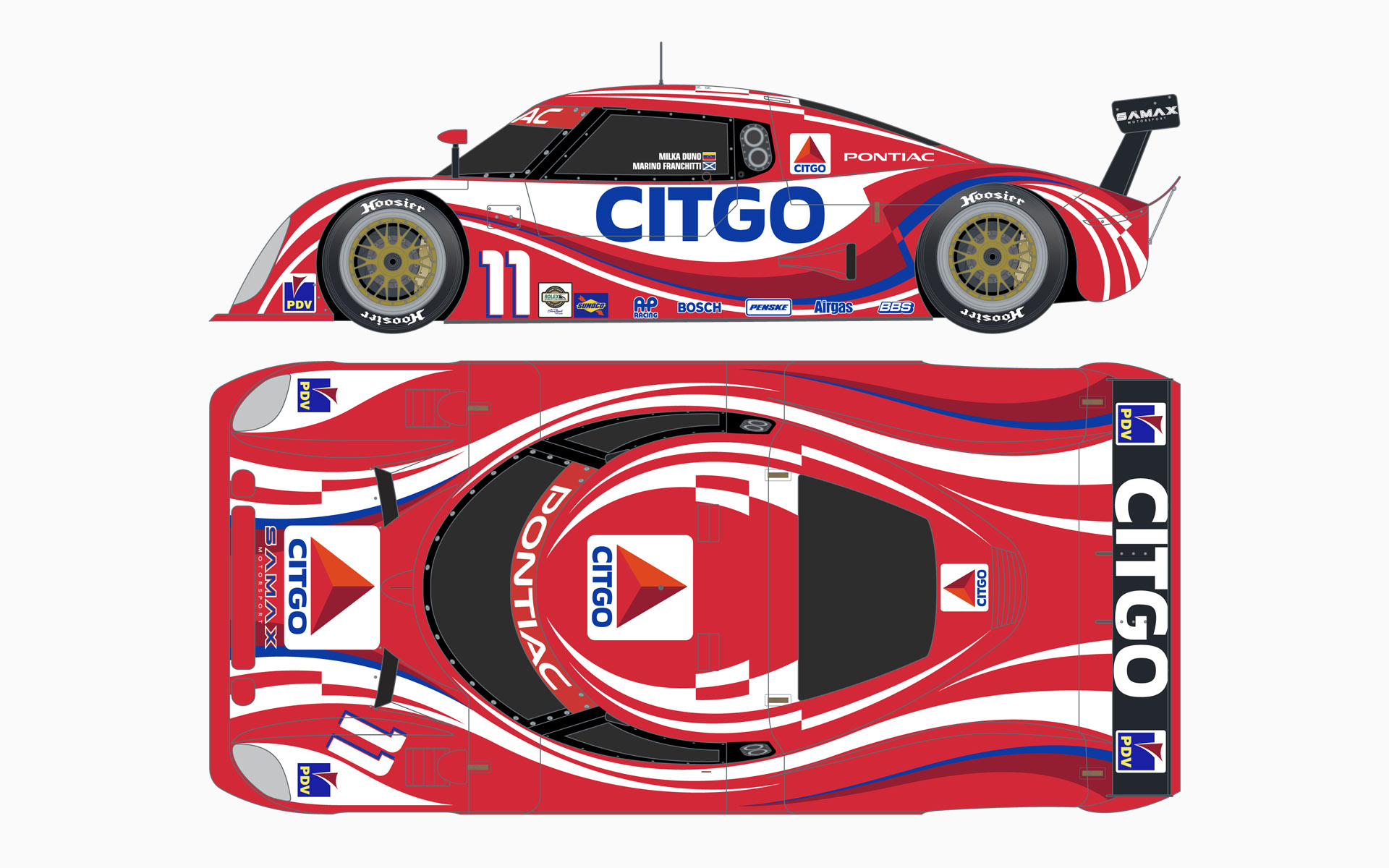2006 Citgo Racing Pontiac Riley MKXI Daytona Prototype Livery Elevations