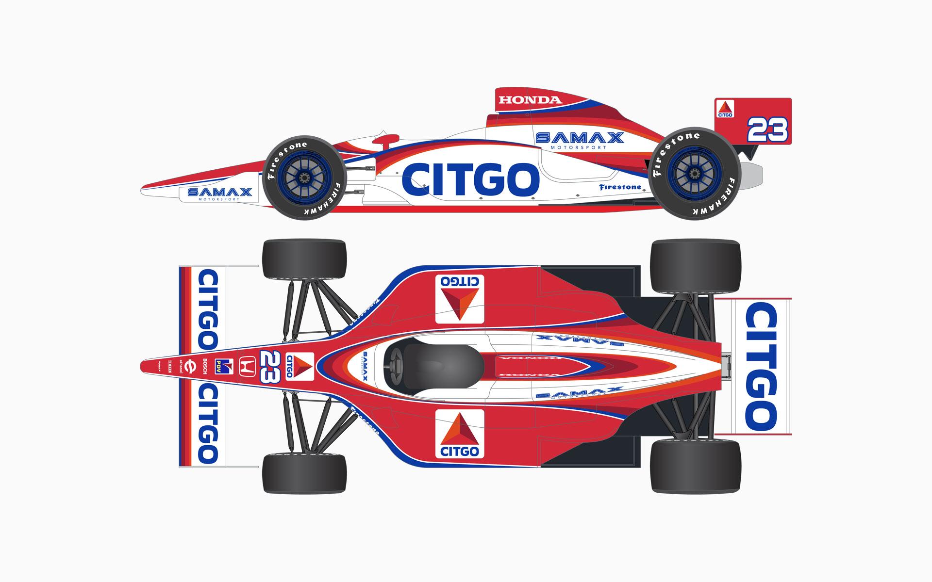 2007 Citgo Racing Dallara Honda IndyCar Livery Elevations