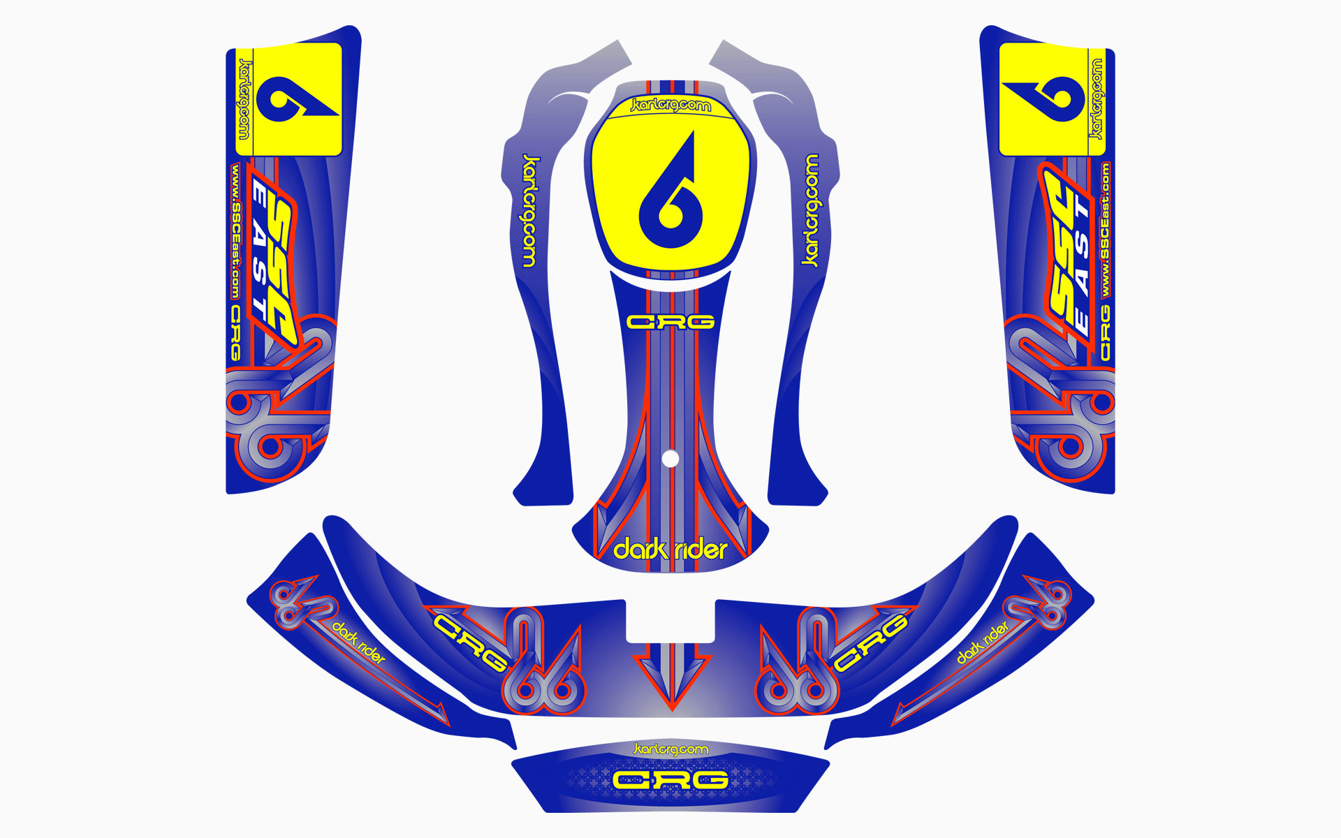 CRG Dark Rider Customer Kart Livery Decal Kit