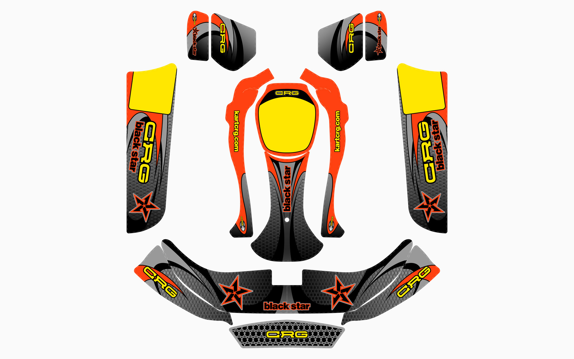 CRG Blackstar Factory Kart Livery Decal Kit
