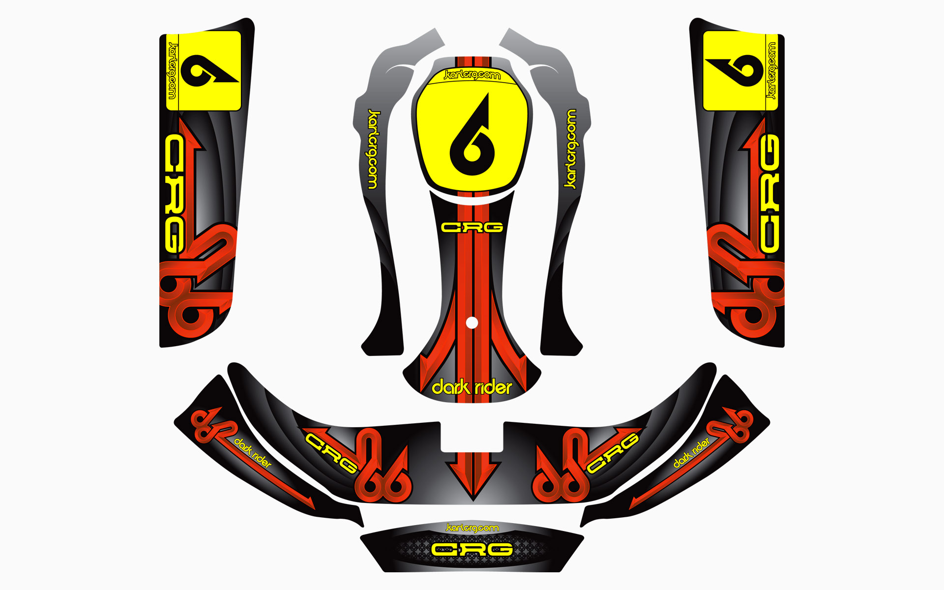 CRG Dark Rider Factory Kart Livery Decal Kit
