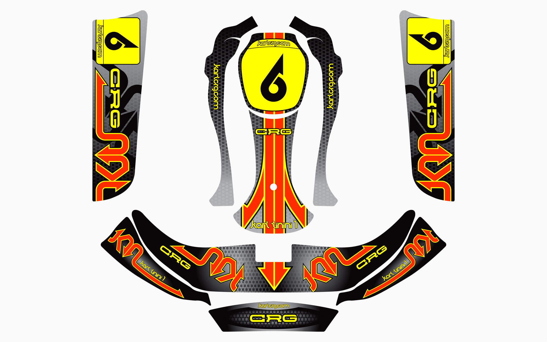 CRG Kart Tinini Factory Kart Livery Decal Kit
