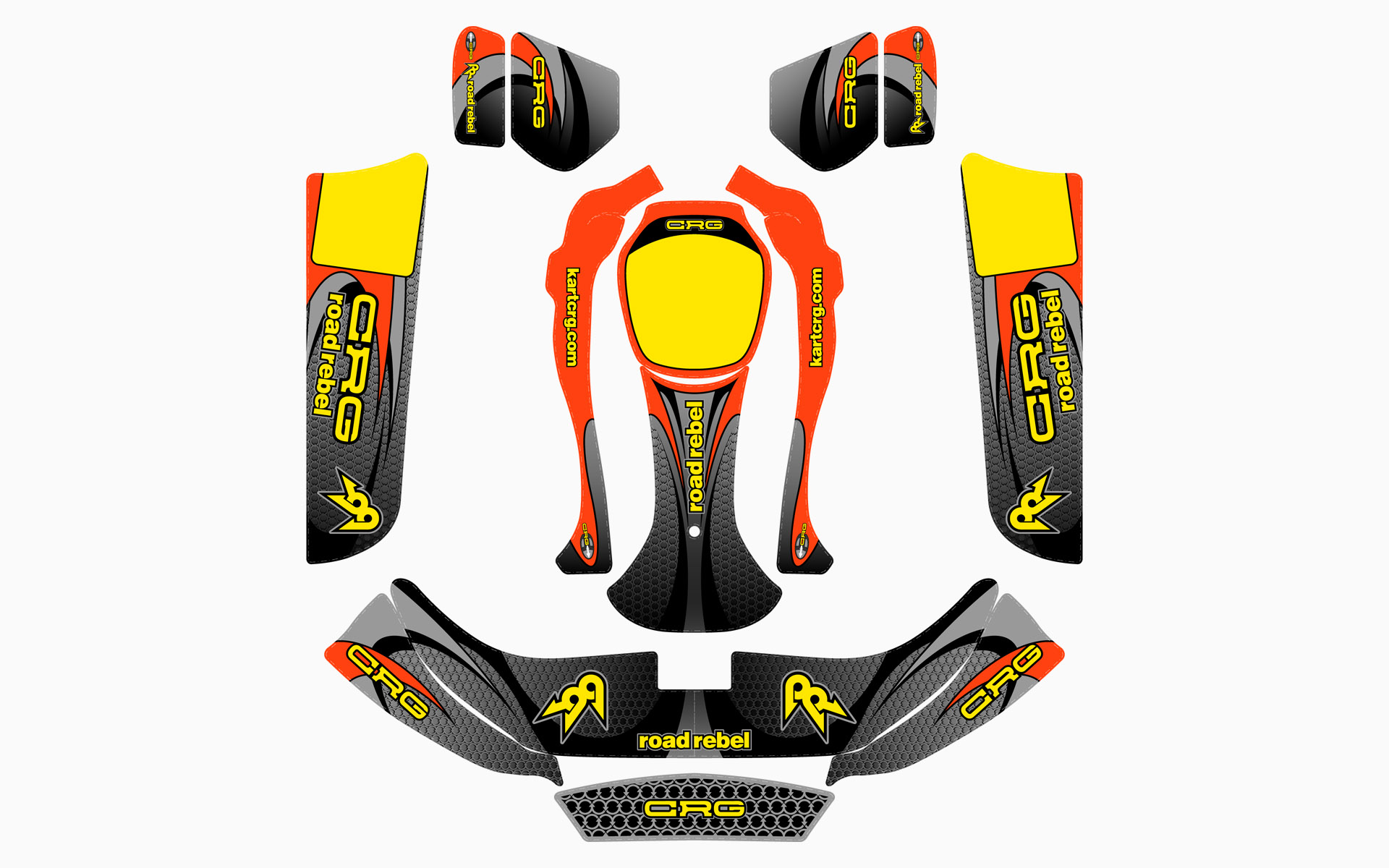 CRG Road Rebel Factory Kart Livery Decal Kit