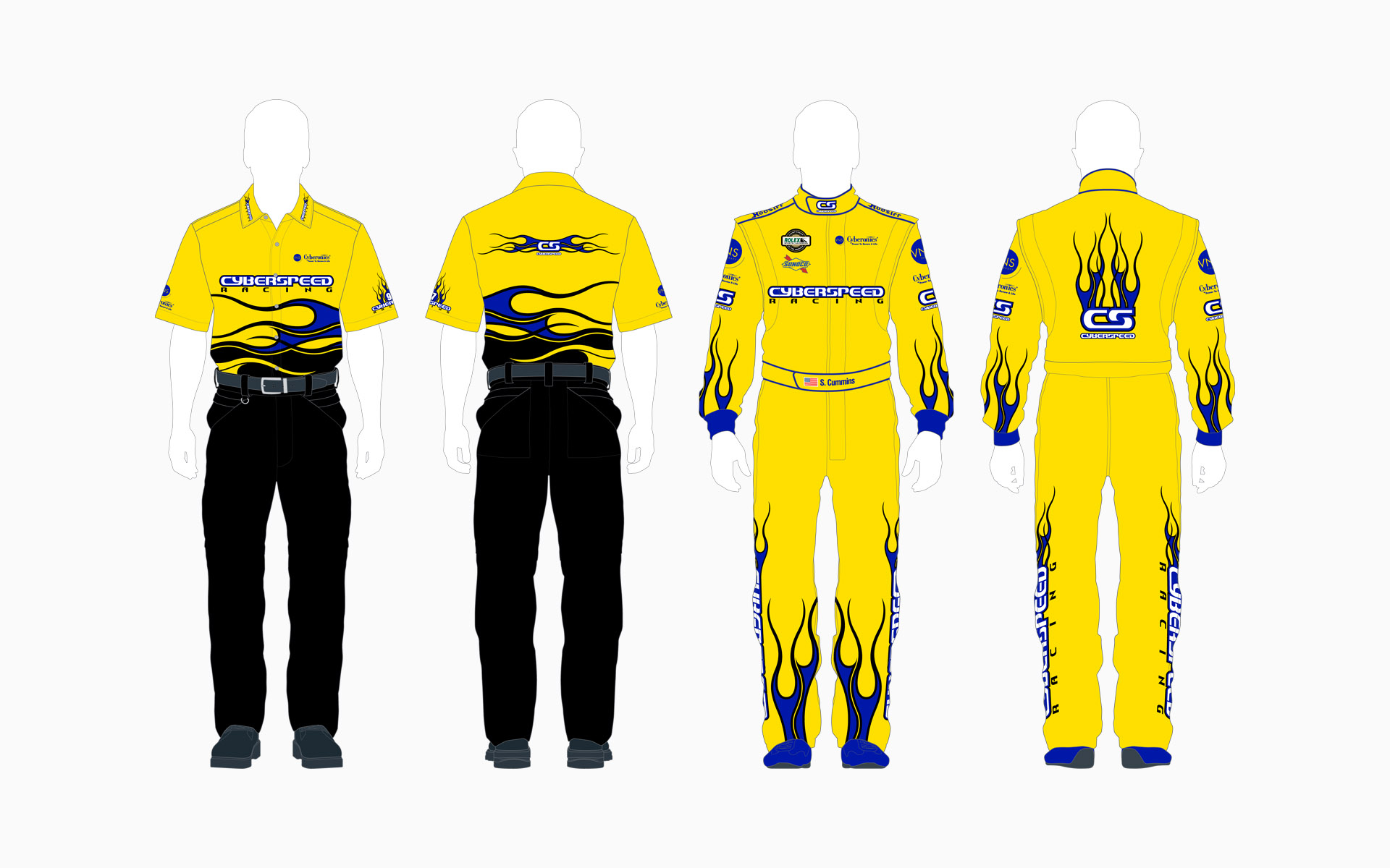 Cyberspeed Racing Crew Shirt and Firesuit
