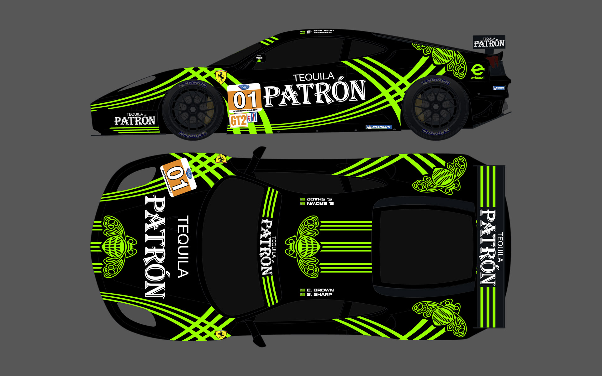2010 Extreme Speed Motorsports Pu00e1tron Ferrari 430 GT Livery Elevations