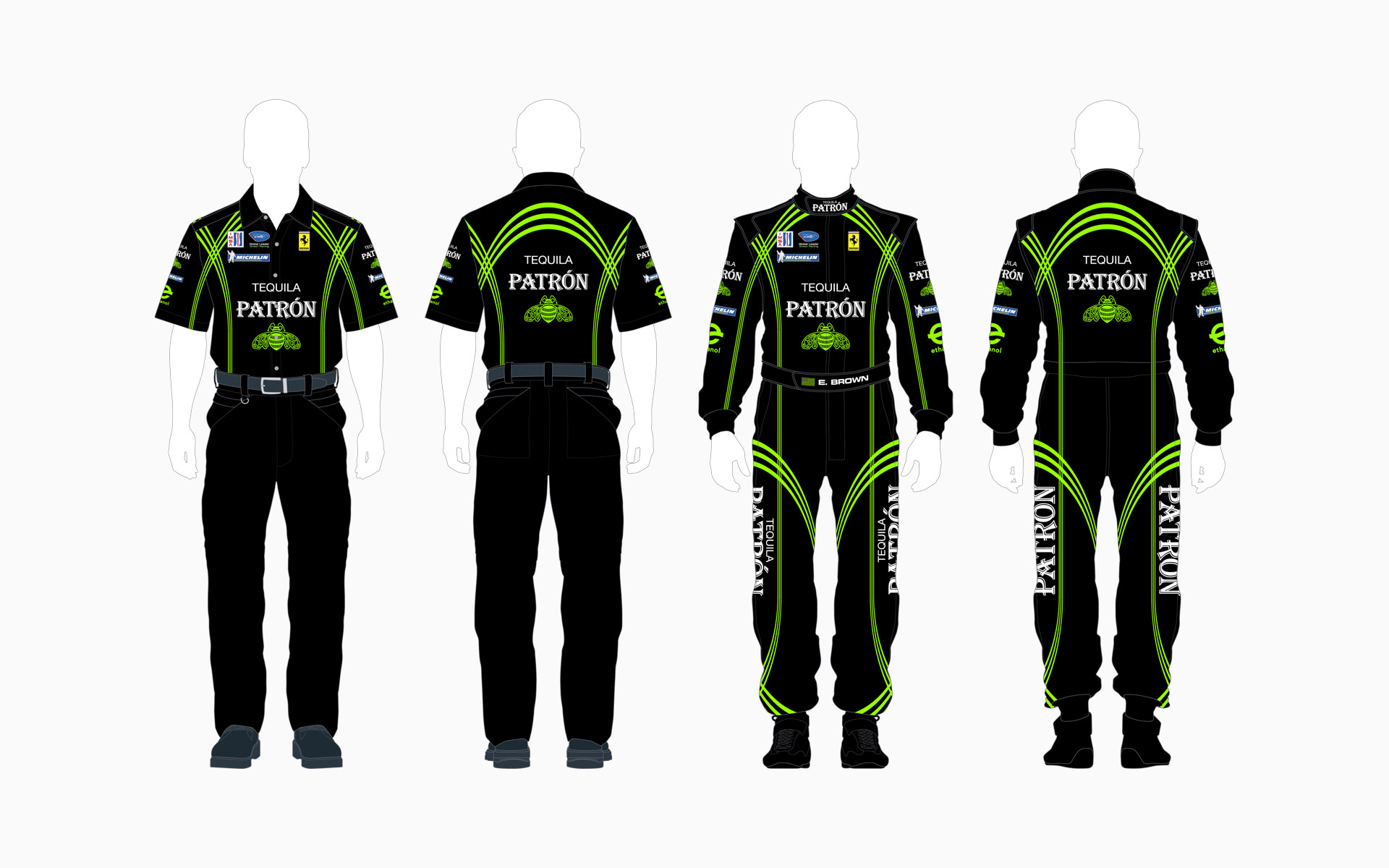 2010 Extreme Speed Motorsports Pu00e1tron Crew Shirt and Firesuit