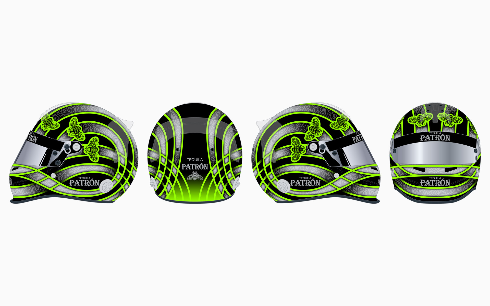 2011 Extreme Speed Motorsports Pátron Helmet Livery Elevations