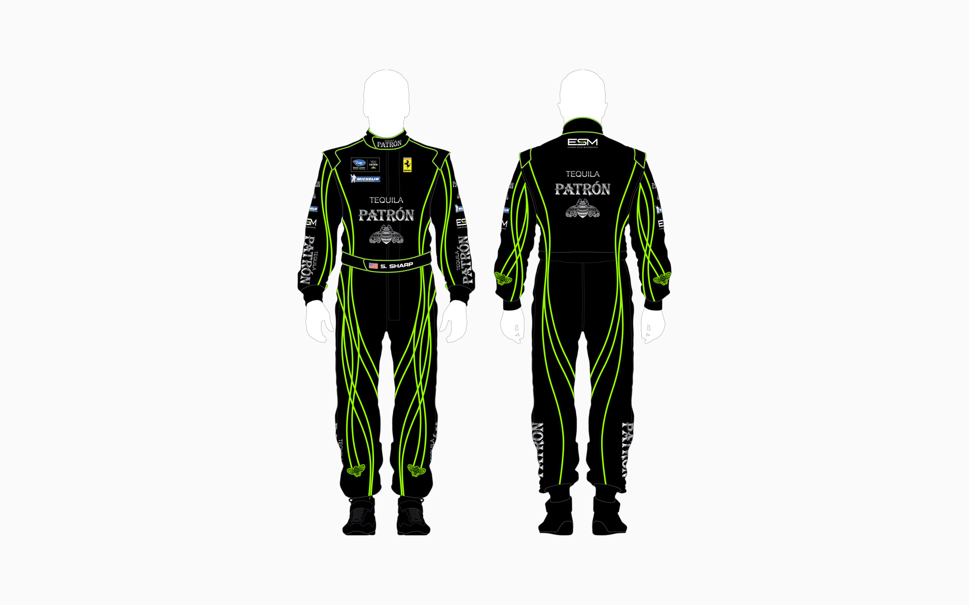 2011 Extreme Speed Motorsports Pátron Crew Shirt and Firesuit