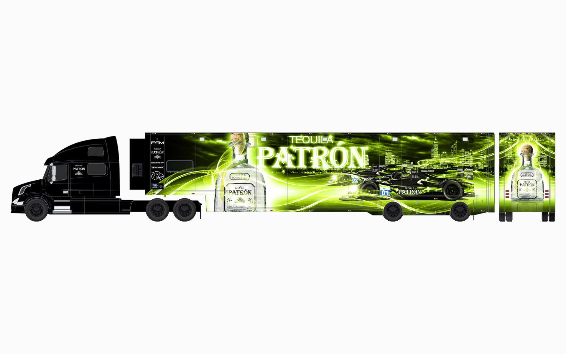 2013 Extreme Speed Motorsports Pátron Transporter Livery Elevations