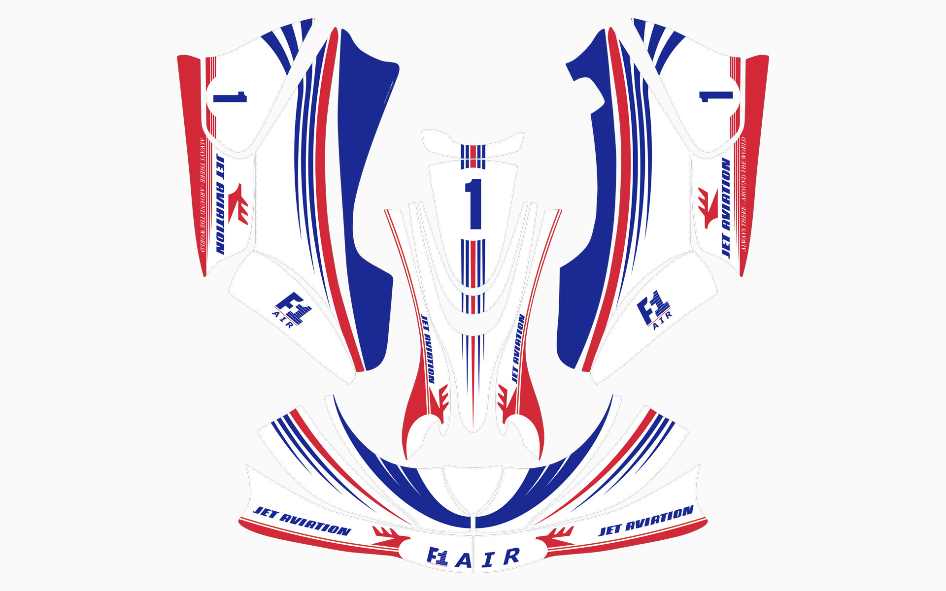 F1-Air Rotax Kart Livery Decal Kit