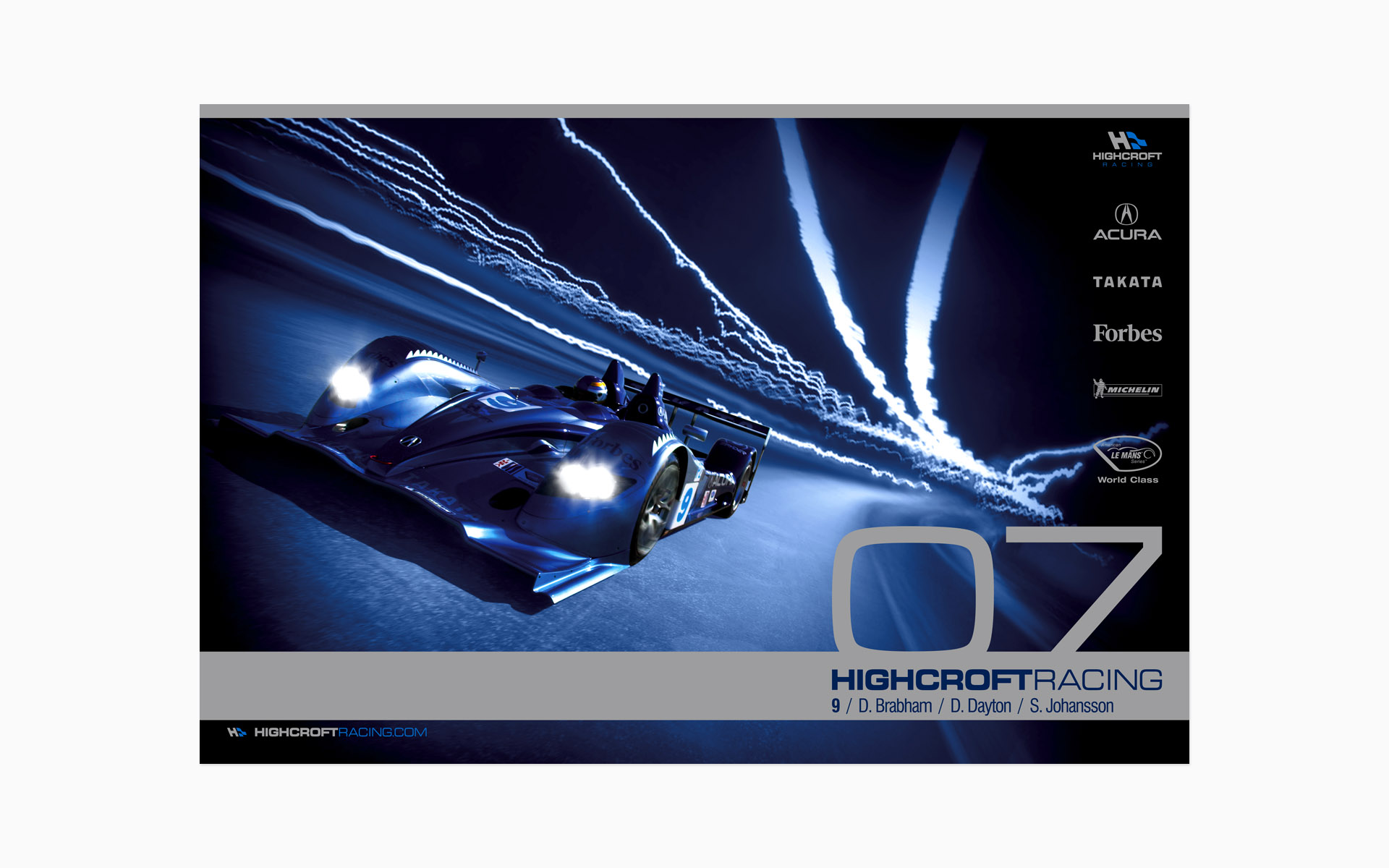2007 Highcroft Racing Acura Poster