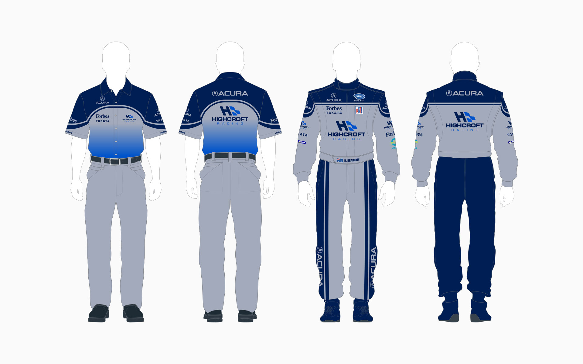 2007 Highcroft Racing Acura Crew Shirt and Firesuit