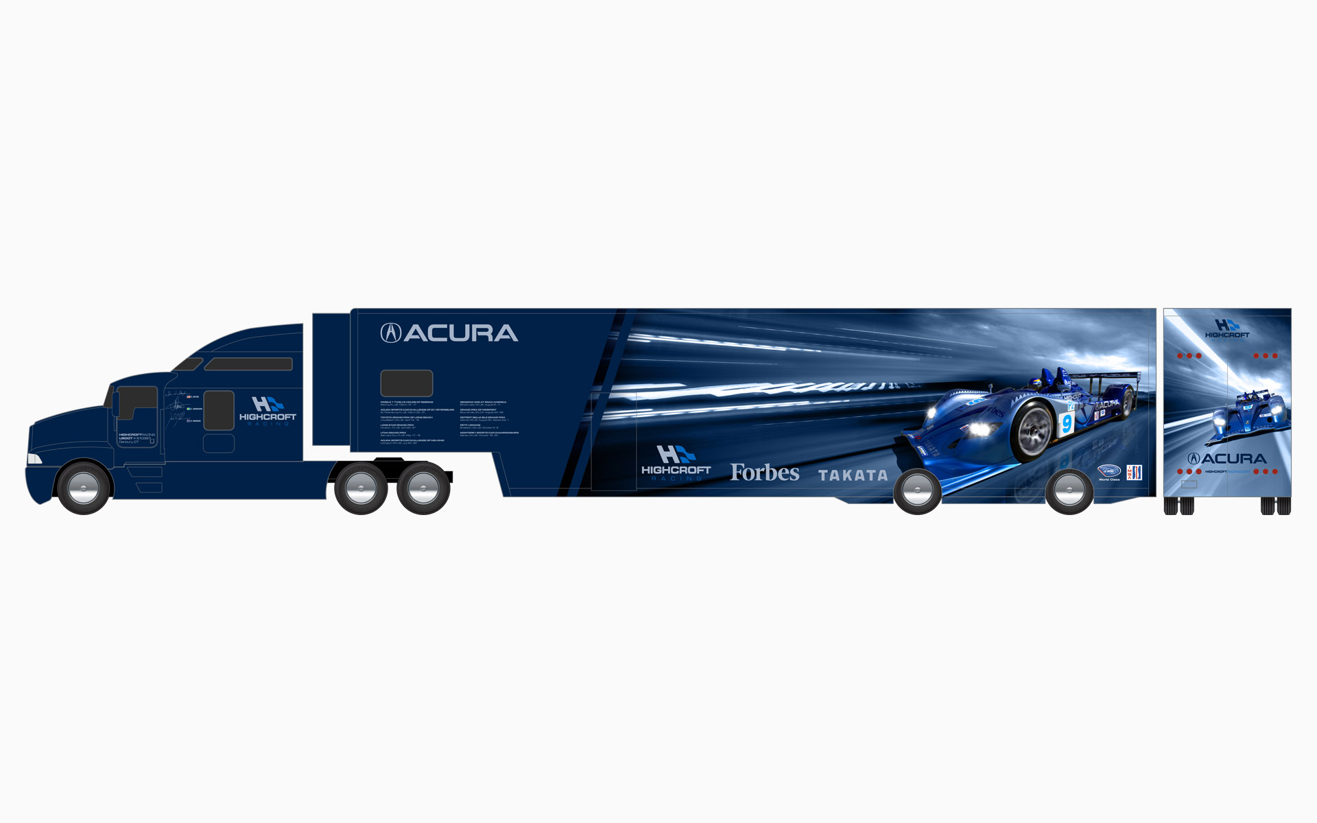 2007 Highcroft Racing Acura Transporter Livery Elevations