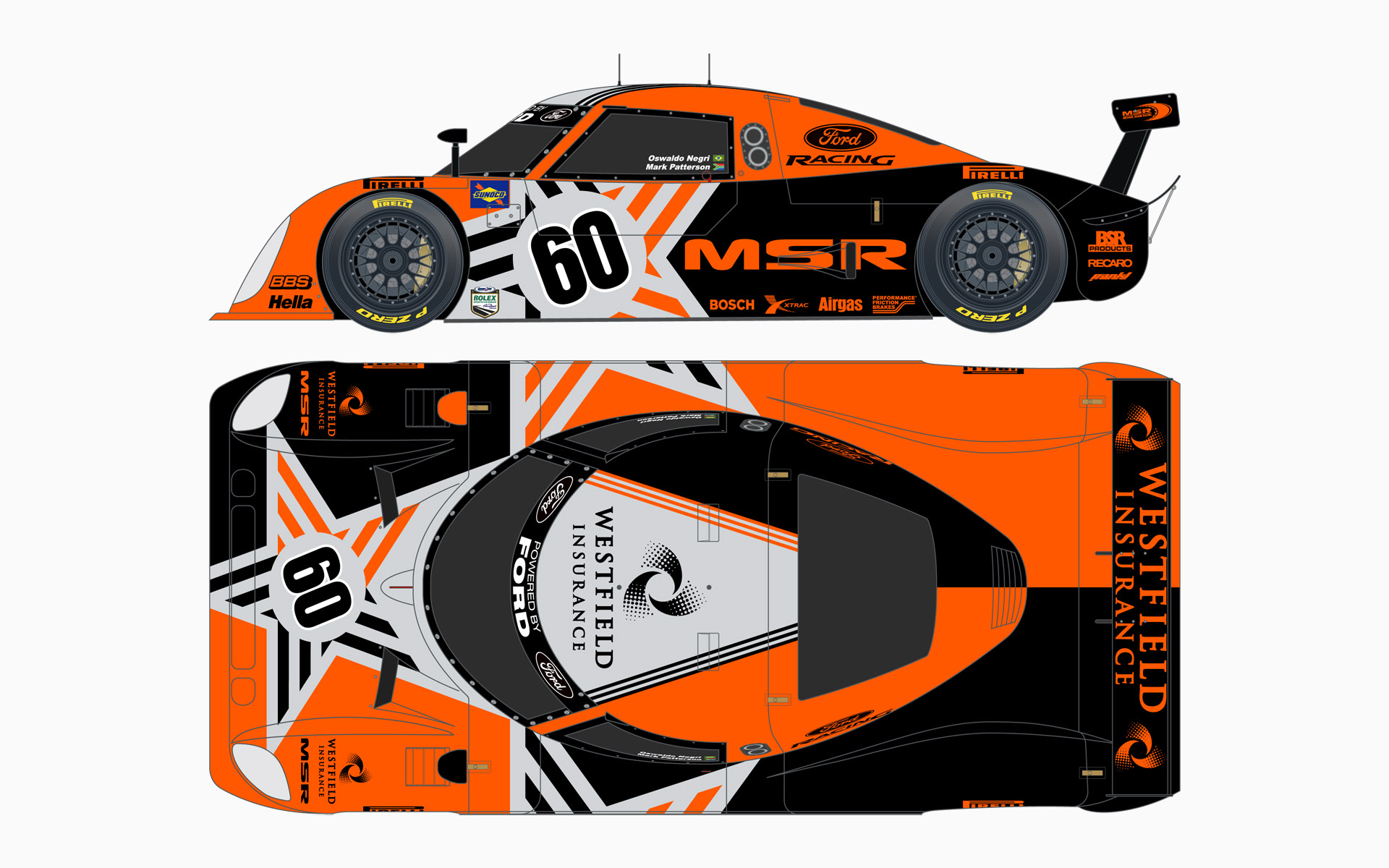 2006 Michael Shank Racing Riley MKXI Daytona Prototype Livery Elevations