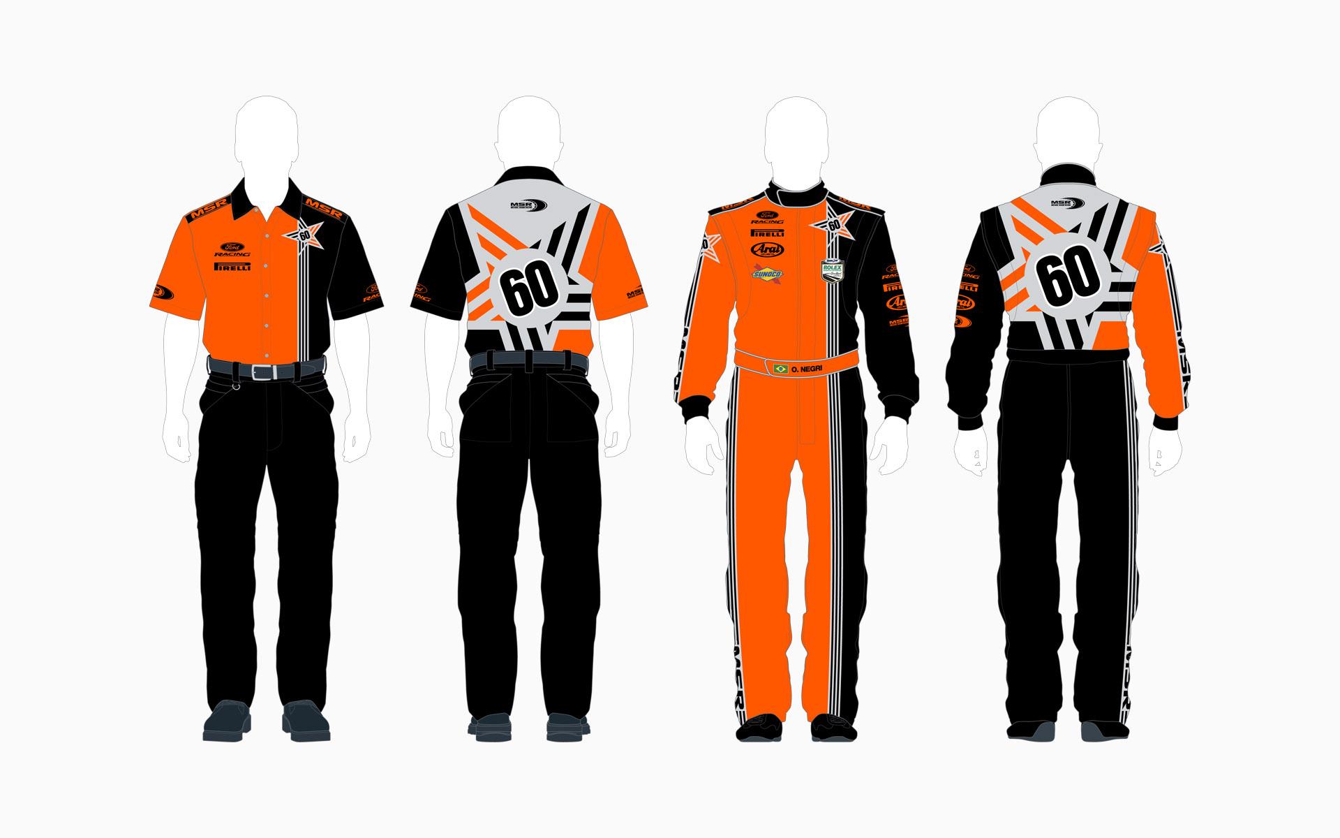 2006 Michael Shank Racing Crew Shirt and Firesuit
