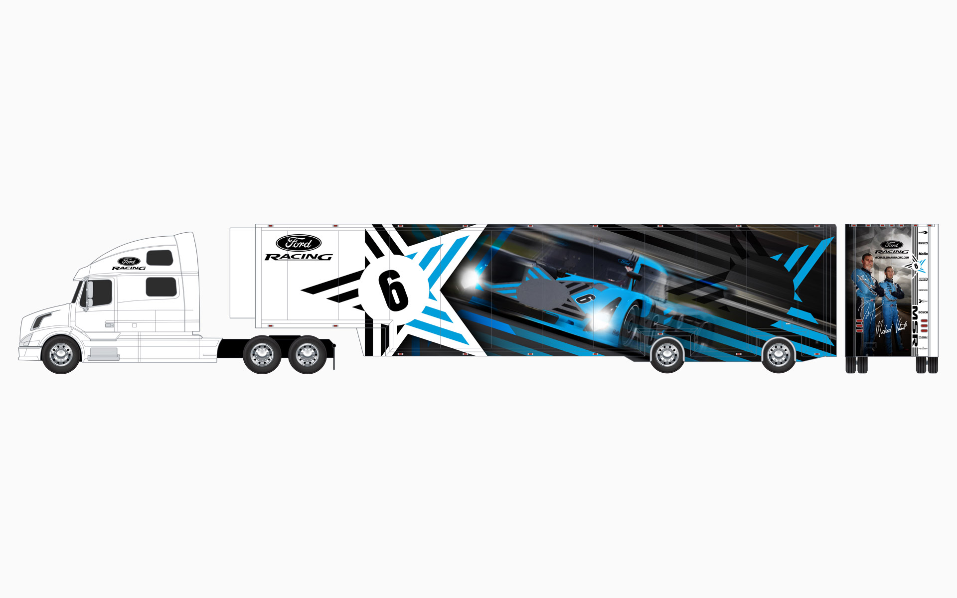 2006 Michael Shank Racing Transporter Livery Elevations
