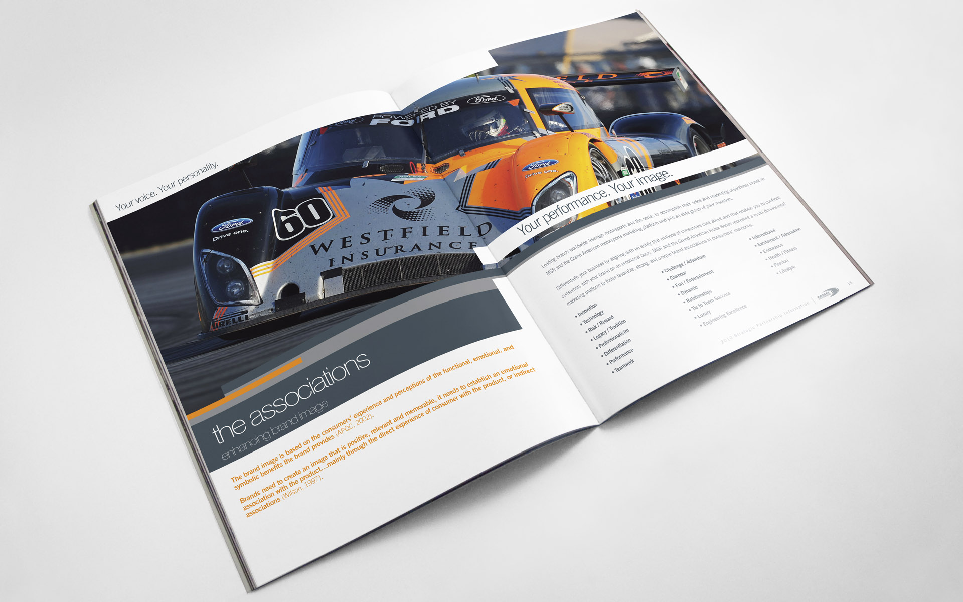 2010 Michael Shank Racing Sponsor Pitch Book