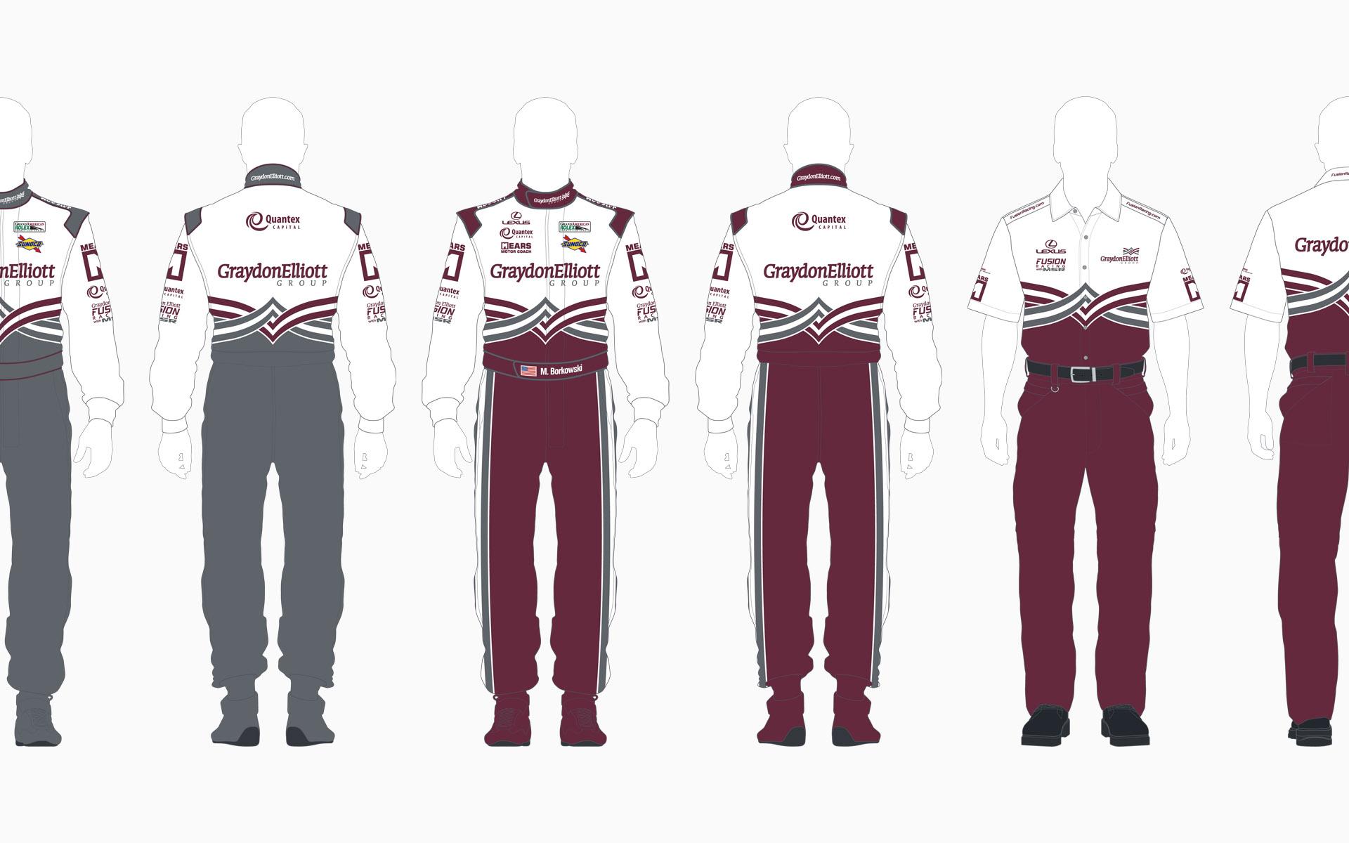 Michael Shank Racing Graydon Elliott Crew Shirt and Firesuit