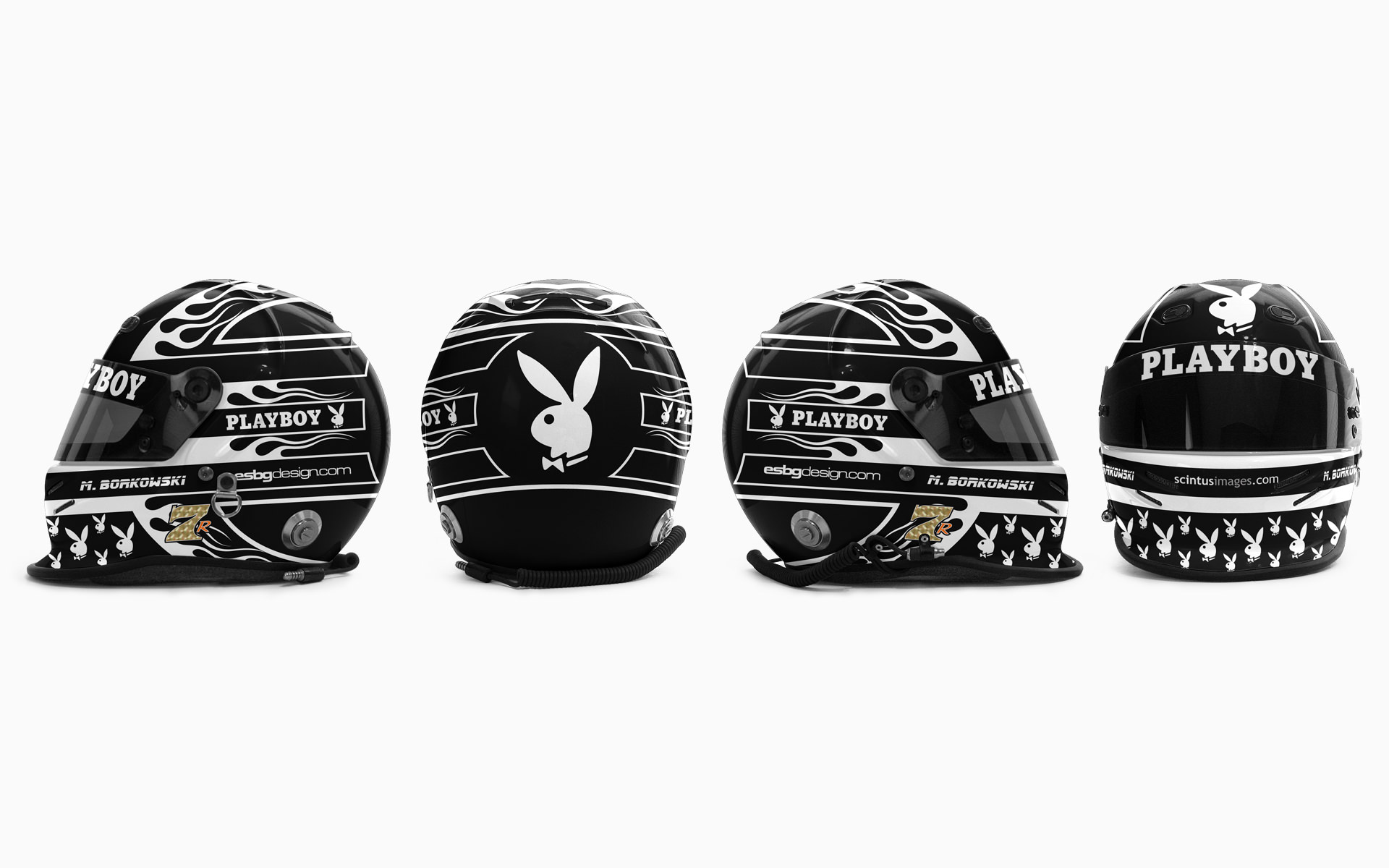 Mike Borkowski Playboy Helmet Livery Visualization