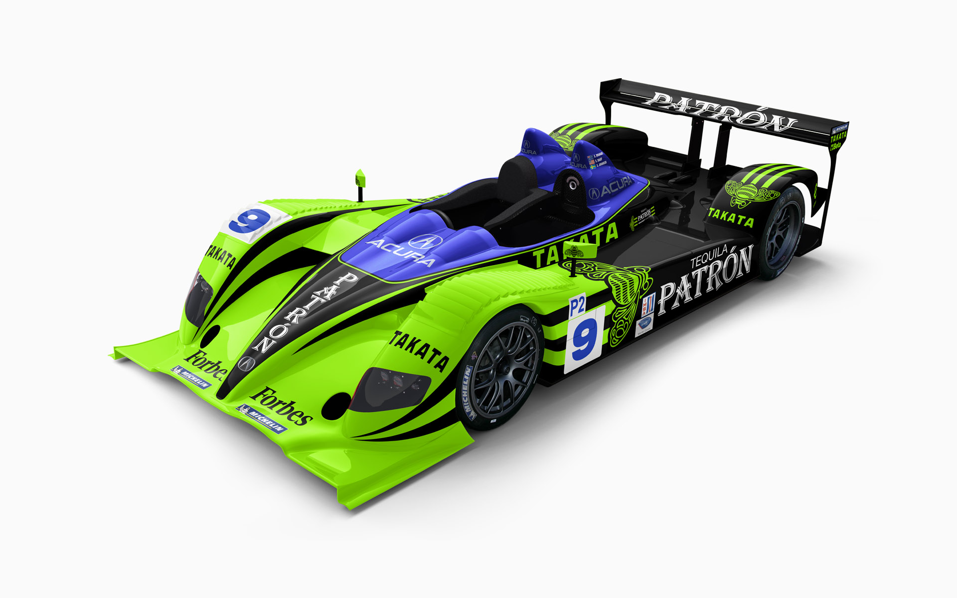 2008 Pátron Highcroft Racing Acura ARX-01b LMP2 Livery Visualization