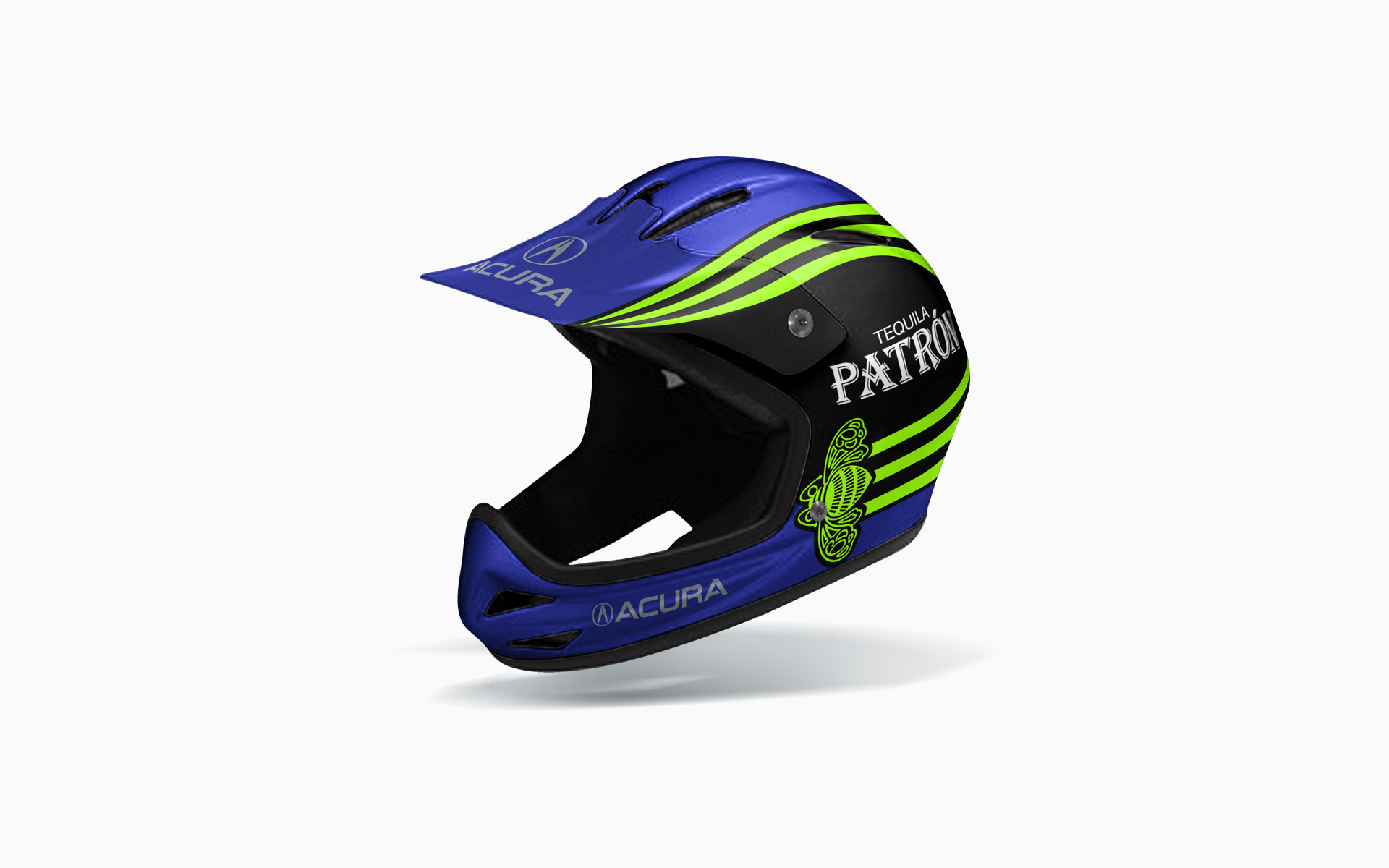 2008 Pátron Highcroft Racing Crew Helmet Livery Visualization