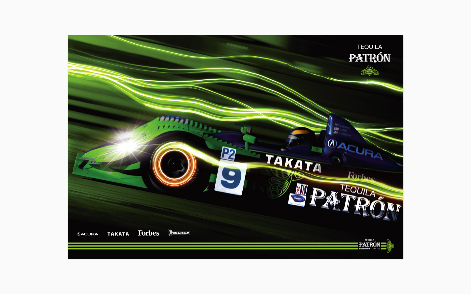 2008 Pátron Highcroft Racing Poster