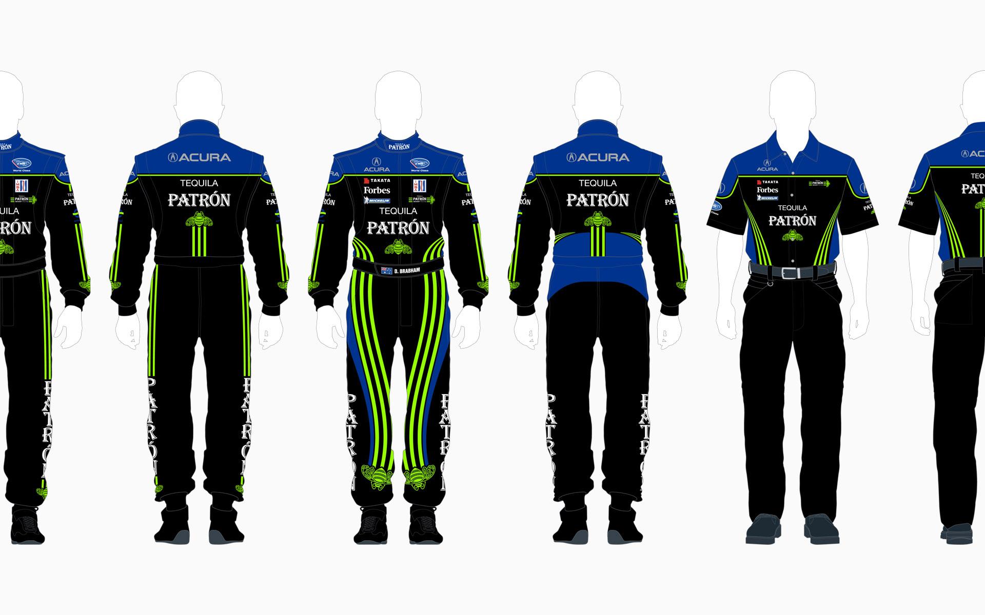 2008 Pátron Highcroft Racing Crew Shirt and Firesuit