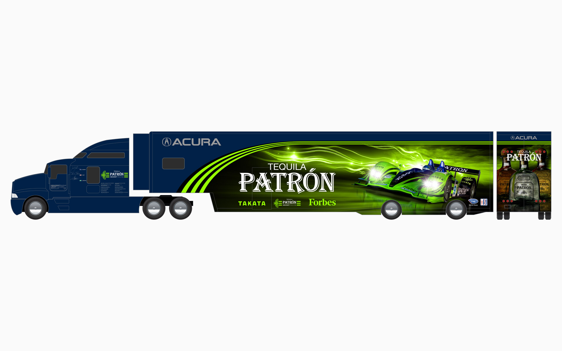 2008 Pátron Highcroft Racing Transporter Livery Elevations