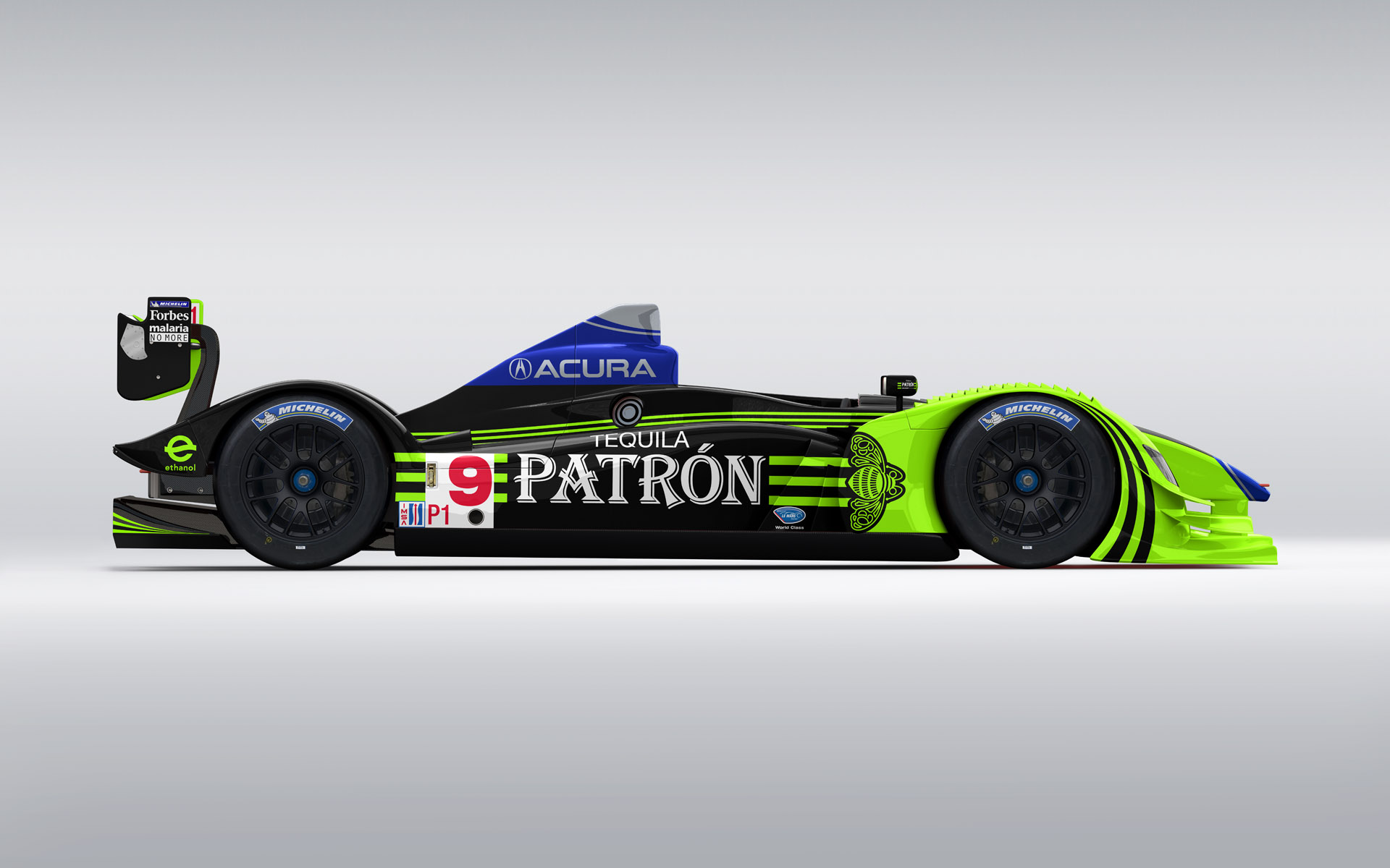 2009 Pátron Highcroft Racing Acura ARX-02a LMP1 Livery Visualization