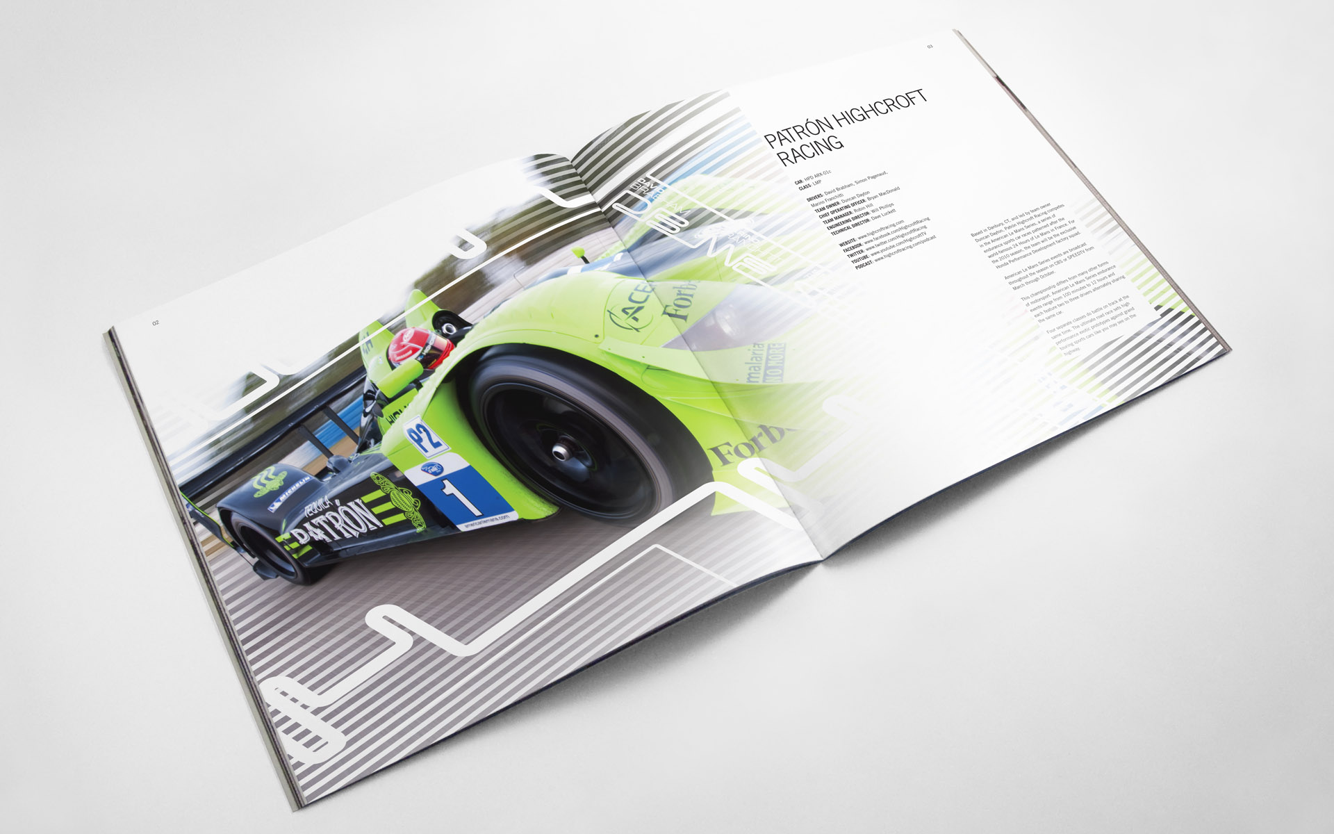 2010 Pátron Highcroft Racing Media Kit
