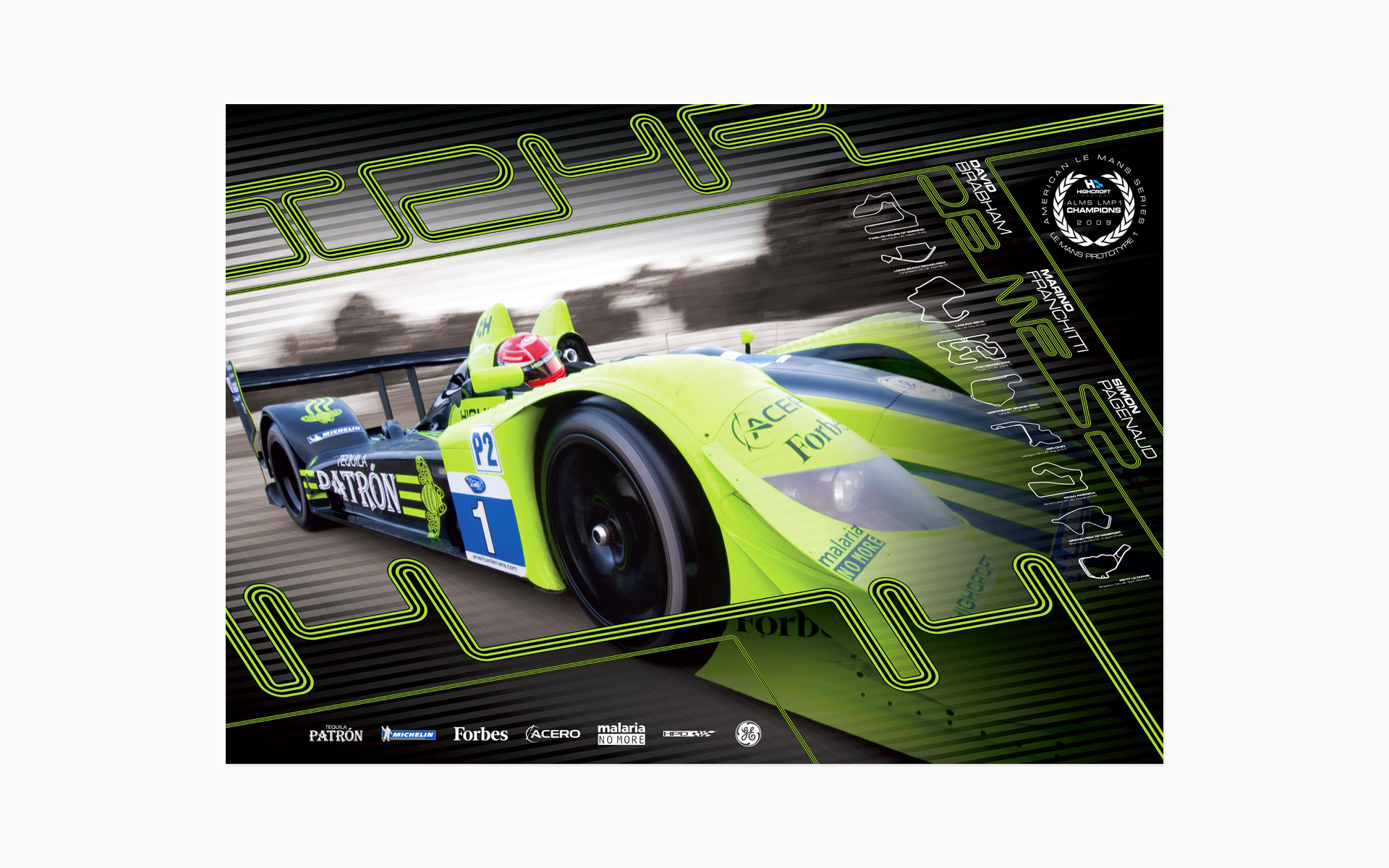 2010 Pátron Highcroft Racing Poster