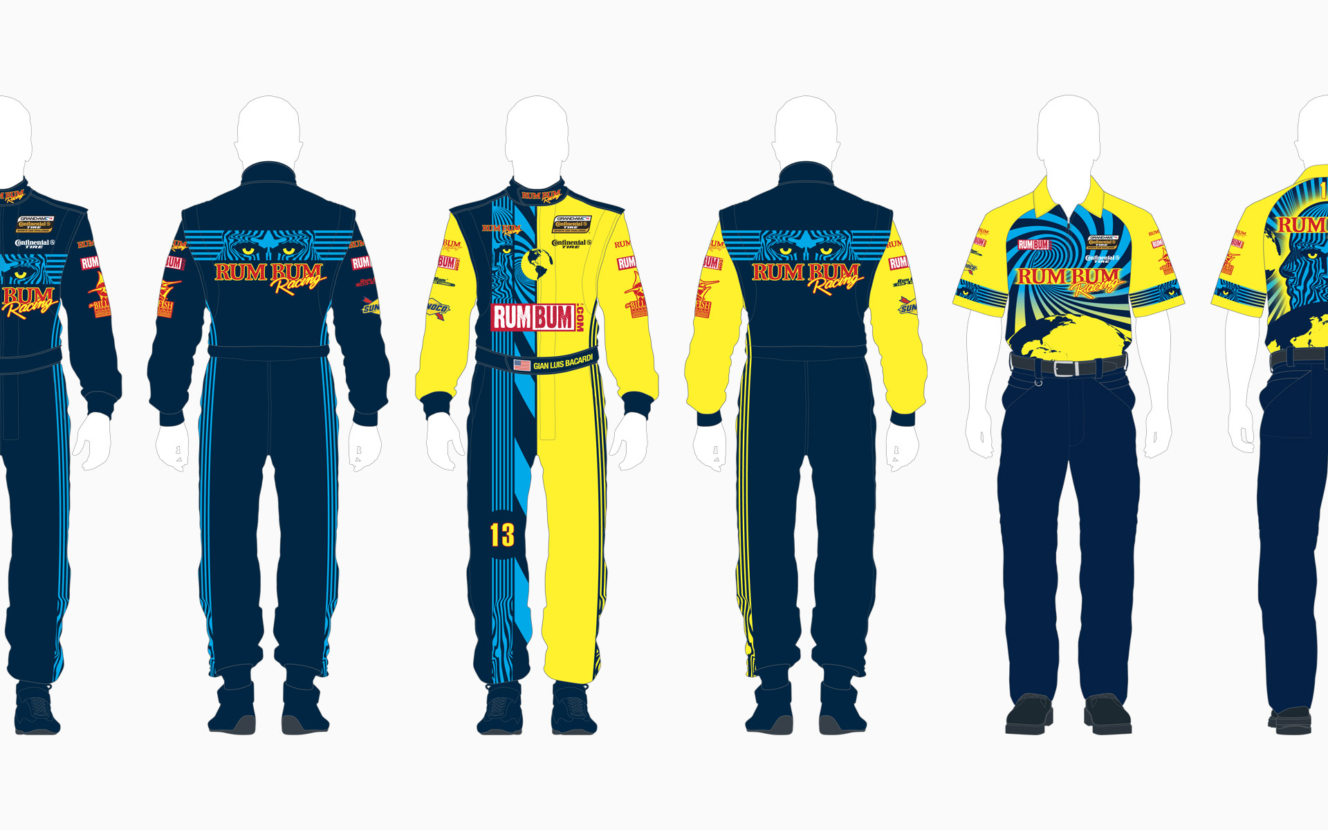 Rum Bum Racing Crew Shirt and Firesuit