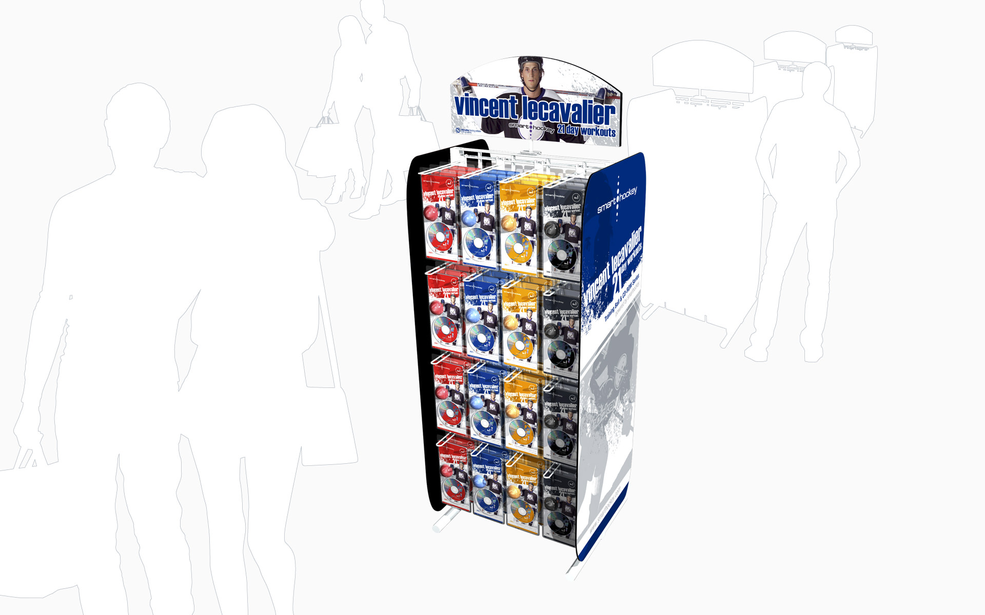 Smarthockey Clamshell Packaging Retail Display