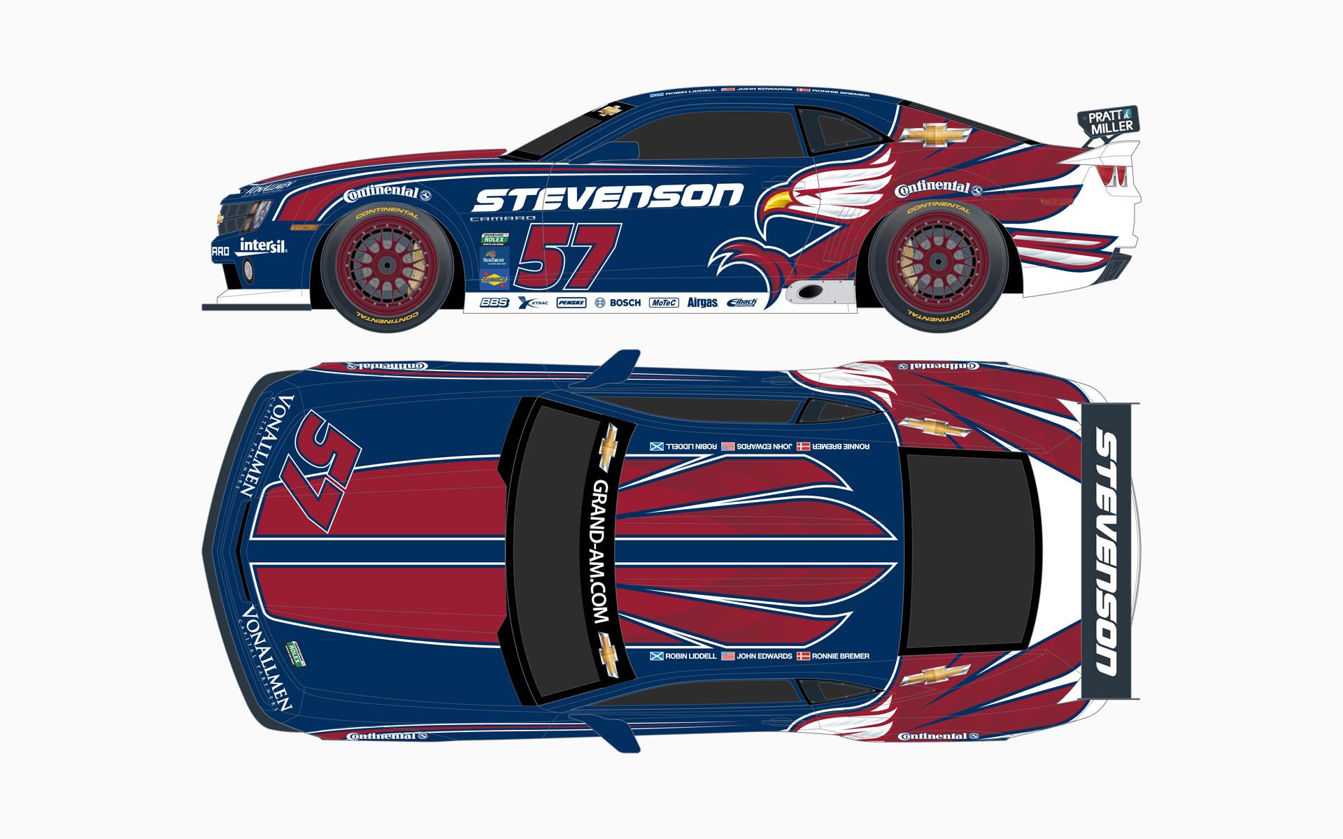2012 Stevenson Motorsports Chevy Camaro GTR GT Livery Elevations