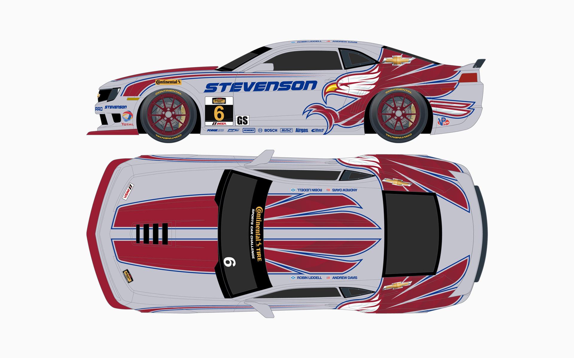 2014 Stevenson Motorsports Chevy Camaro Z28R GT Livery Elevations