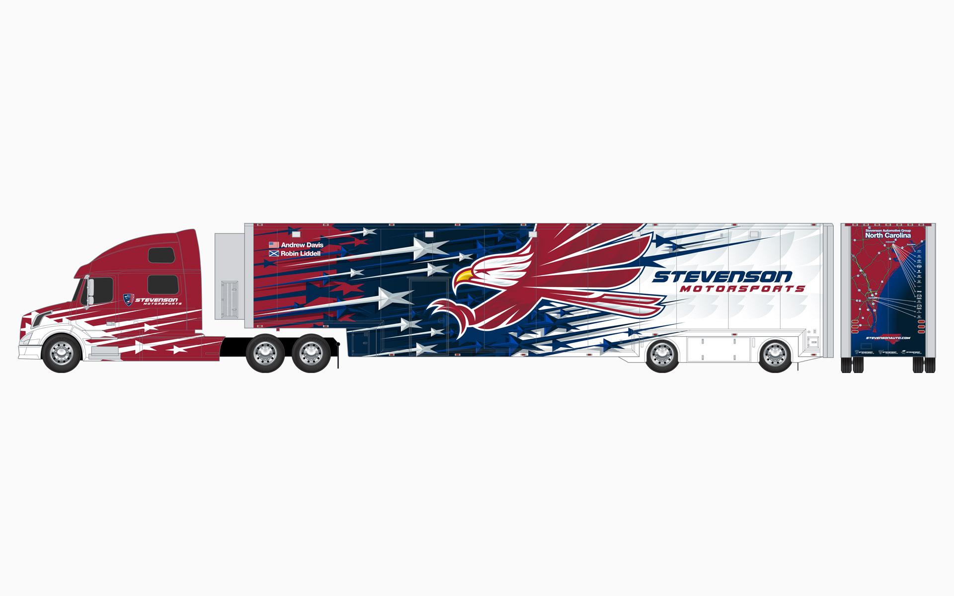 Stevenson Motorsports Transporter Livery Elevations