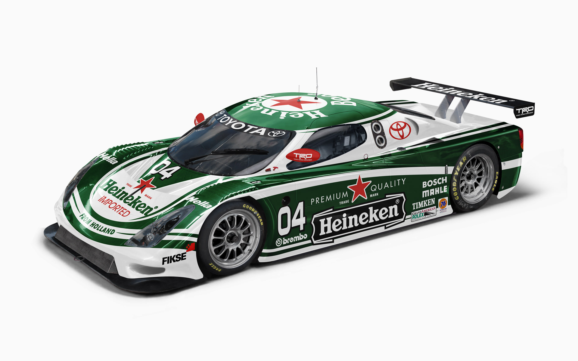 Toyota Racing Development Heineken Toyota FABCAR Daytona Prototype Livery Visualization
