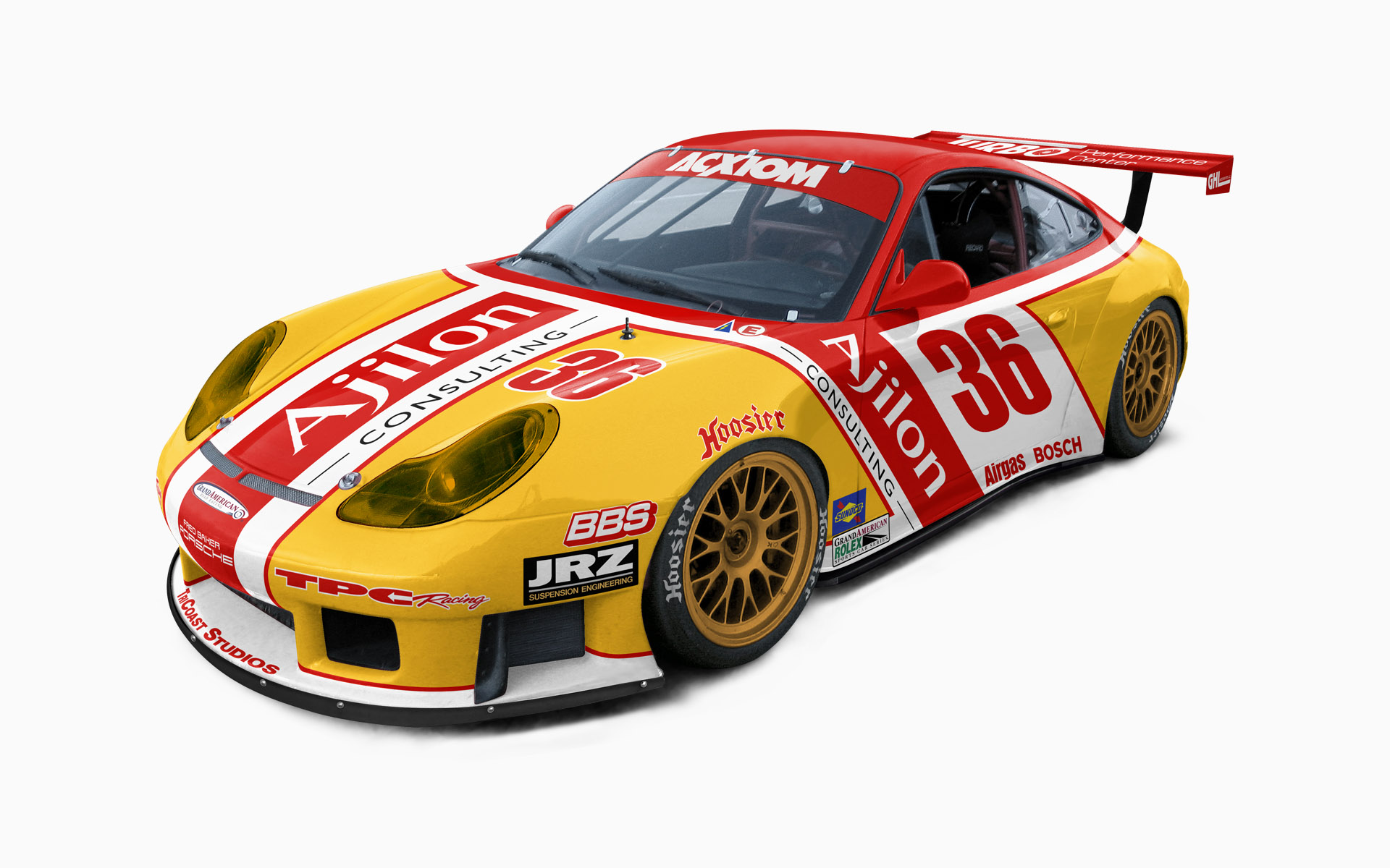 2005 TPC Racing Ajilon Consulting Porsche 911 GT3RS GT Livery Visualization