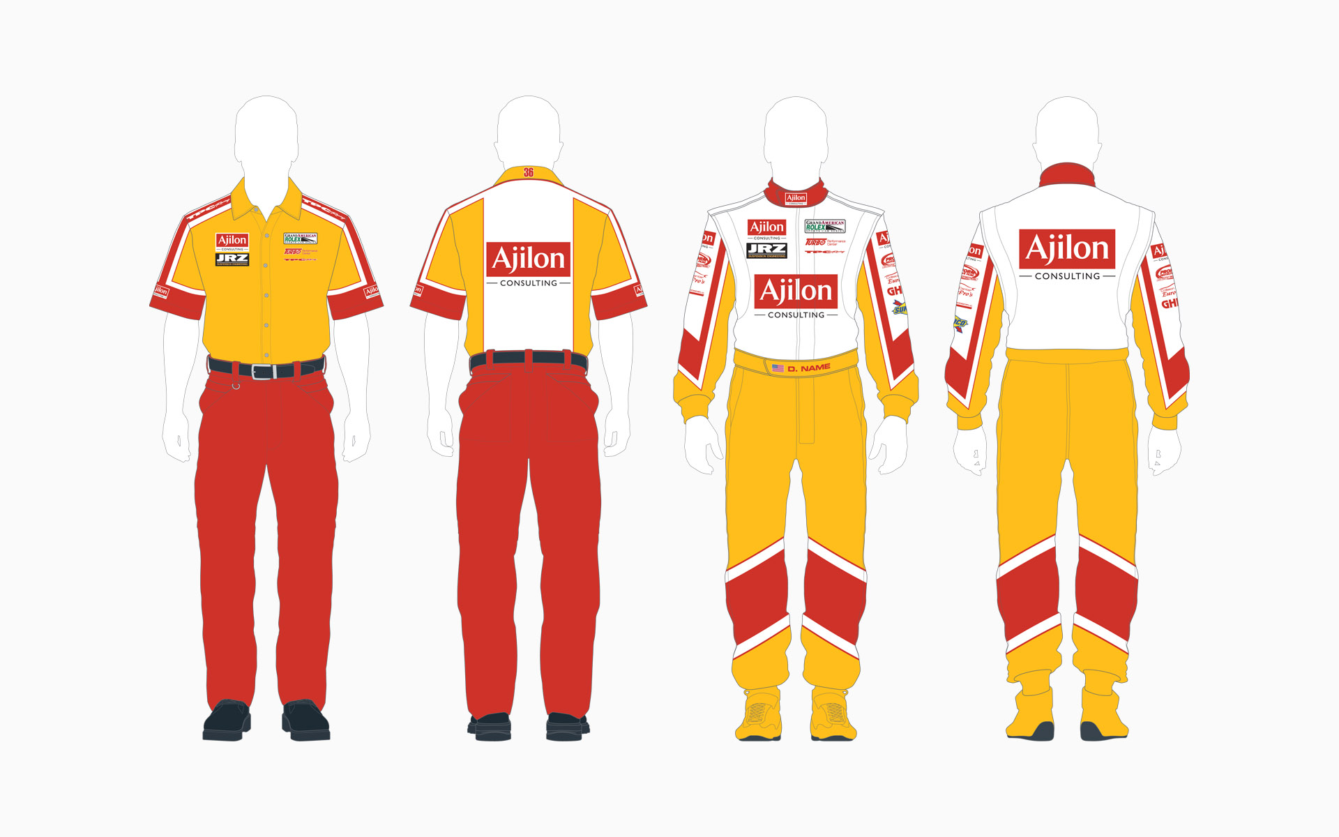 2005 TPC Racing Ajilon Consulting Crew Shirt and Firesuit