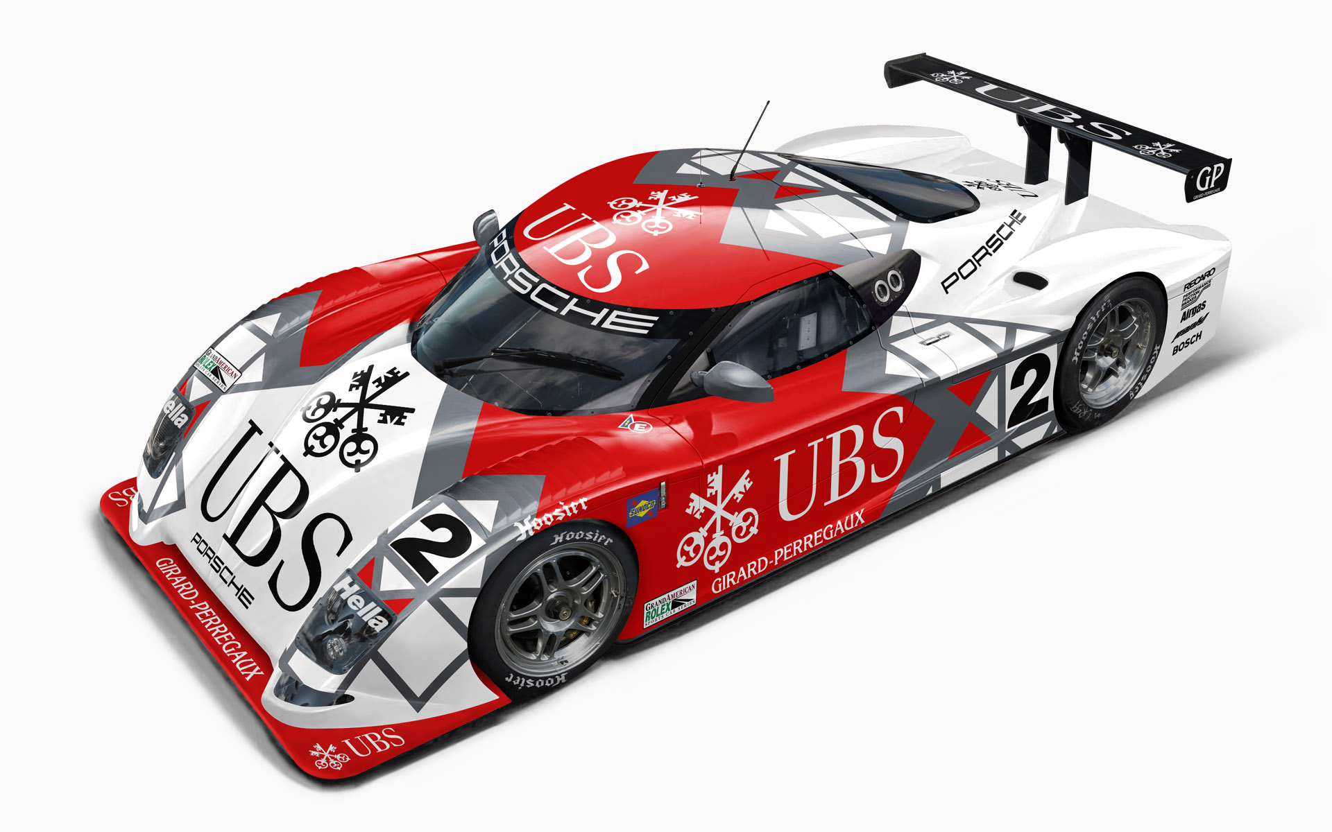 UBS Porsche Crawford Daytona Prototype Livery Visualization