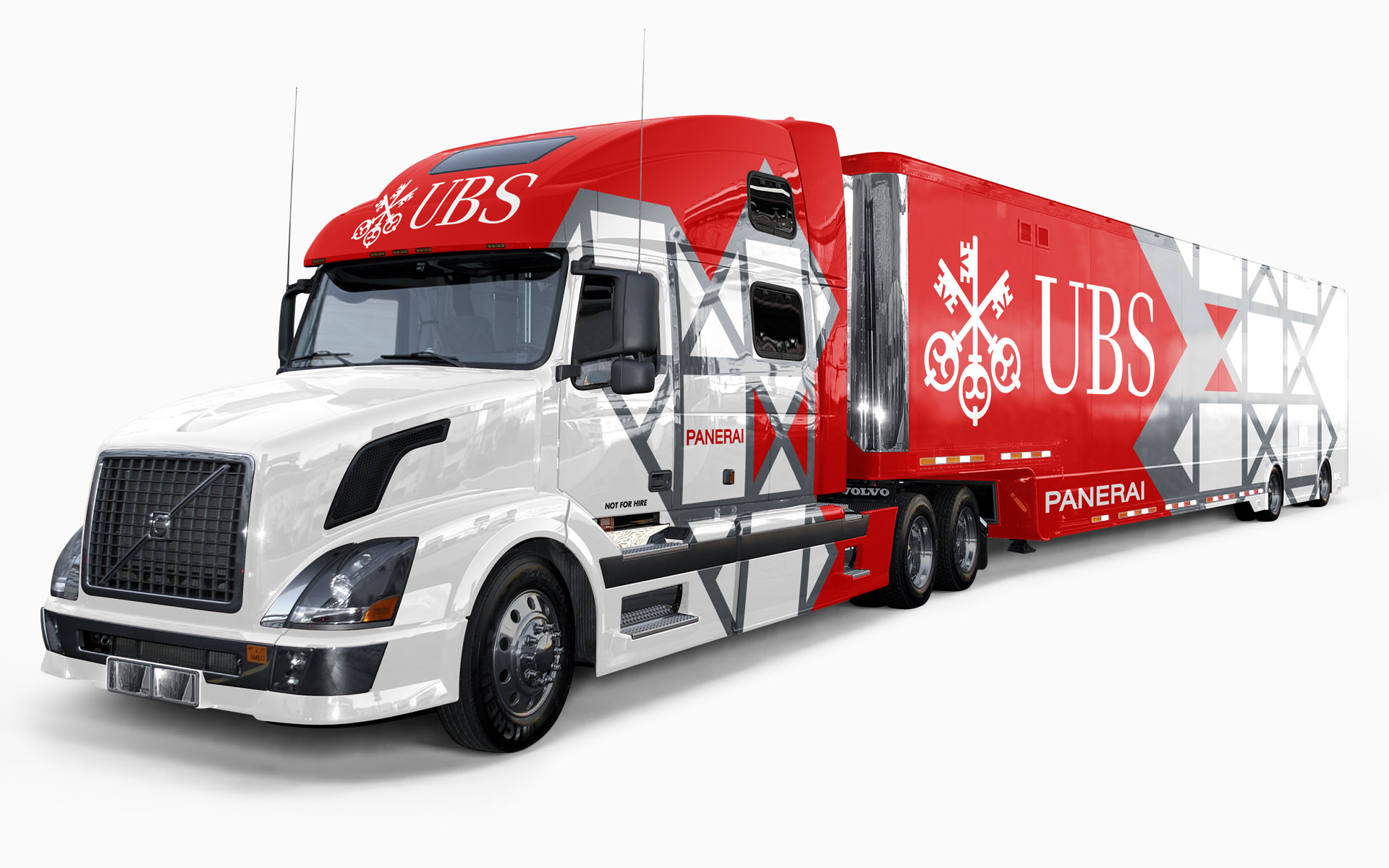 UBS Porsche Transporter Livery Visualization