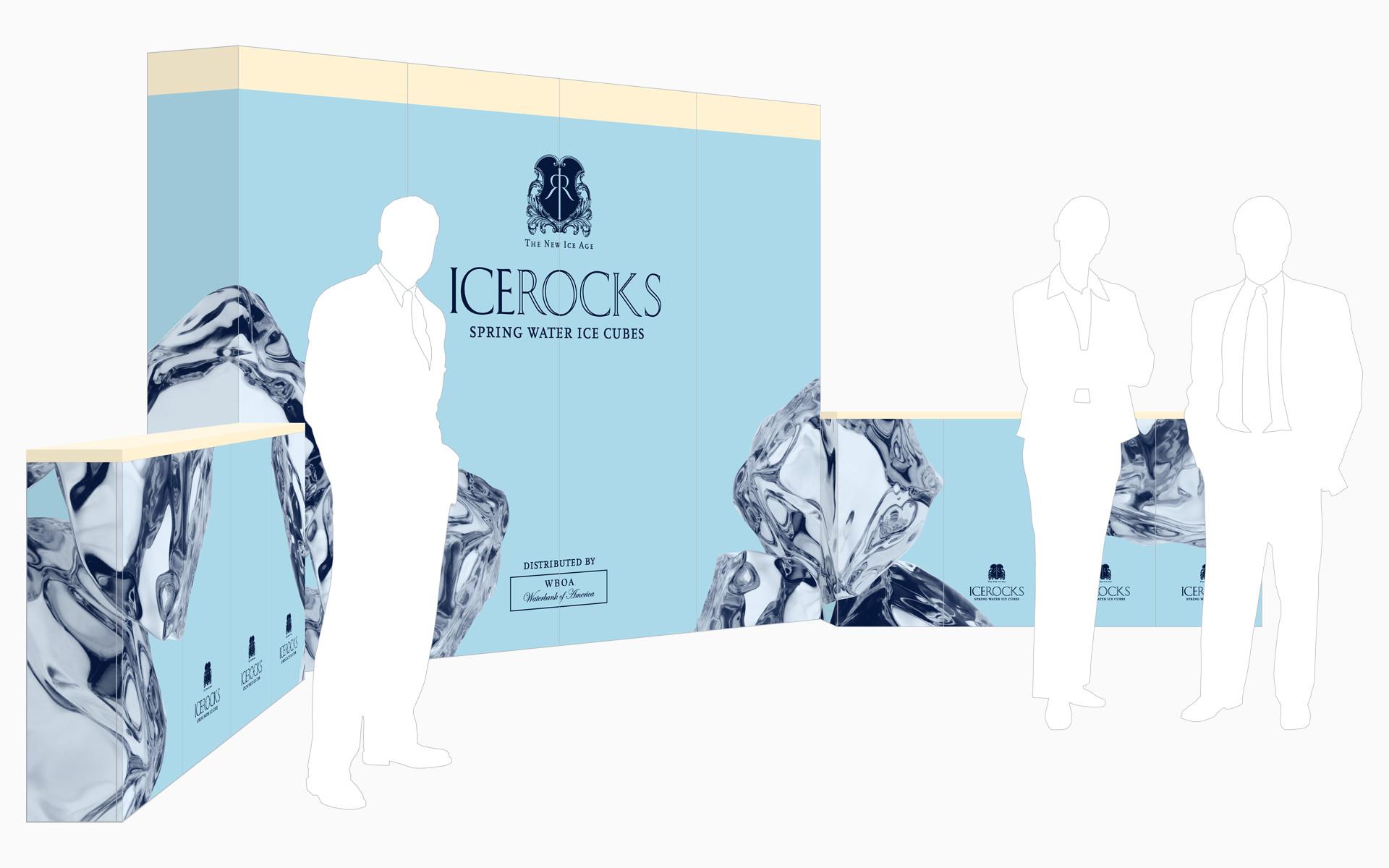WaterBank of America ICEROCKS Environment Display