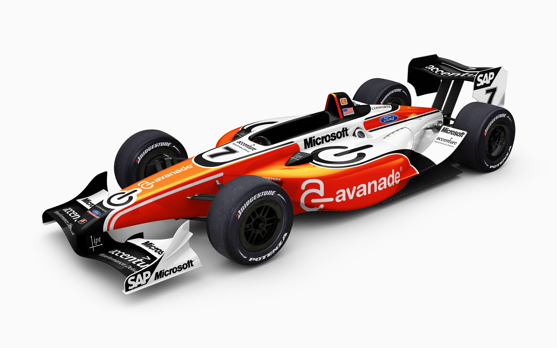 2007 IPT Avanade Panoz DP01 Ford Champ Car Livery Visualization