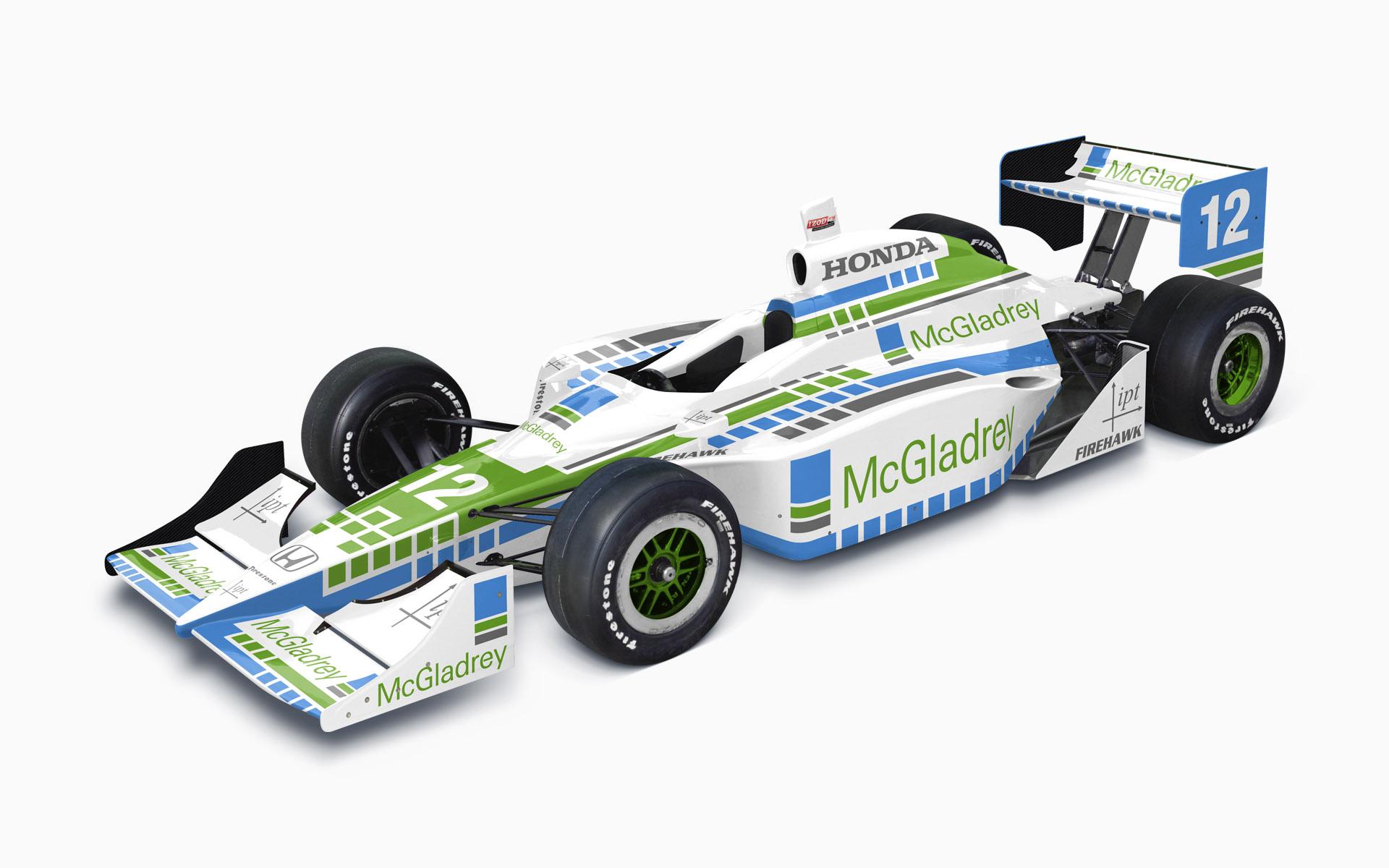 2009 IPT McGladrey Dallara Honda IndyCar Livery Visualization