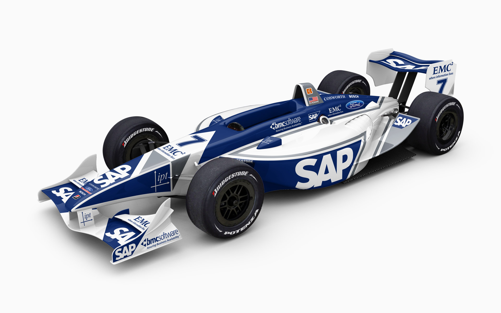 2007 IPT SAP Panoz DP01 Ford Champ Car Livery Visualization