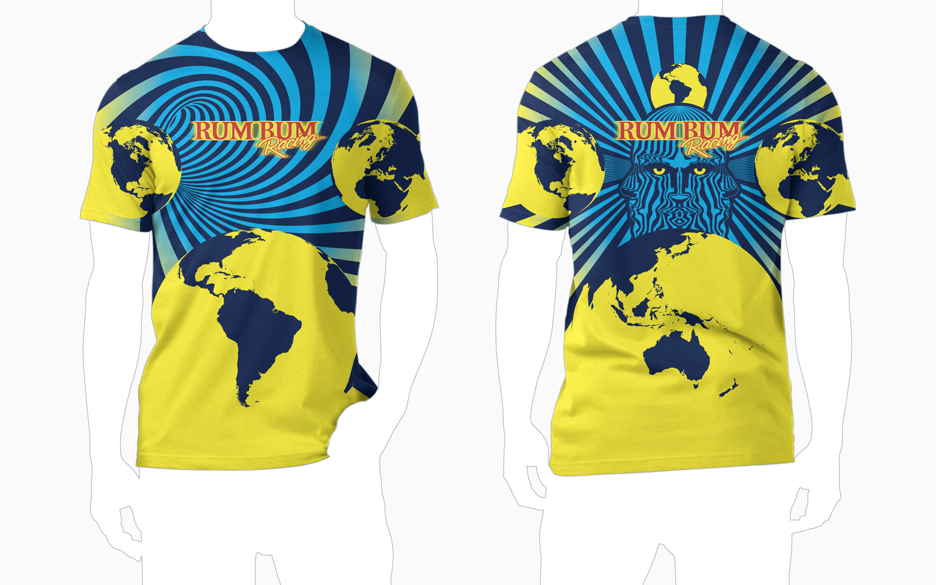 Rum Bum Racing Dye Sublimated T-Shirt