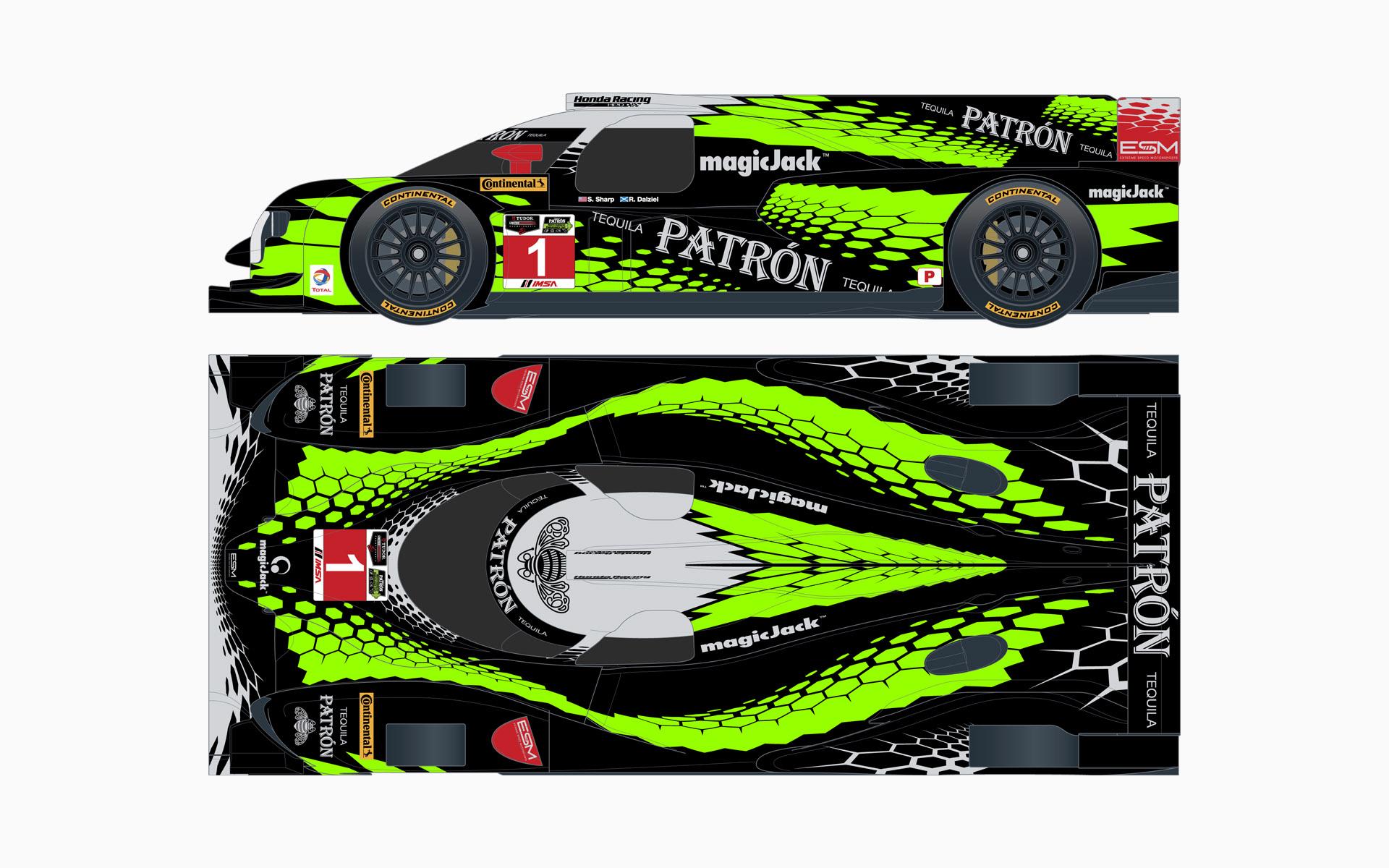 2015 Extreme Speed Motorsports Pátron HPD ARX-04b LMP2 Livery Elevations
