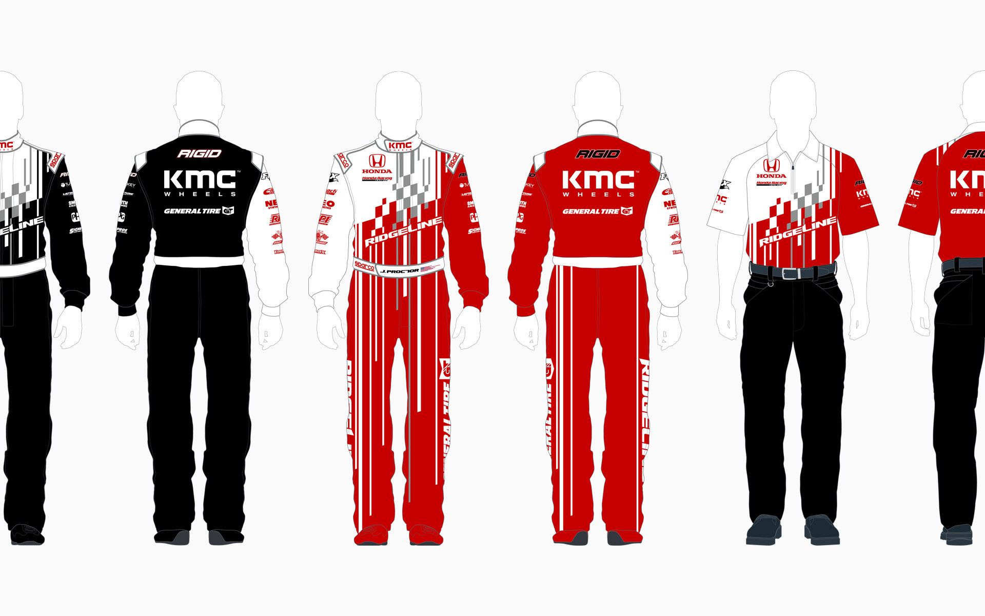 2016 Honda Off-Road HPD Ridgeline Crew Shirt and Firesuit